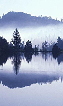 28135 скачать обои Пейзаж, Деревья, Горы, Озера - заставки и картинки бесплатно