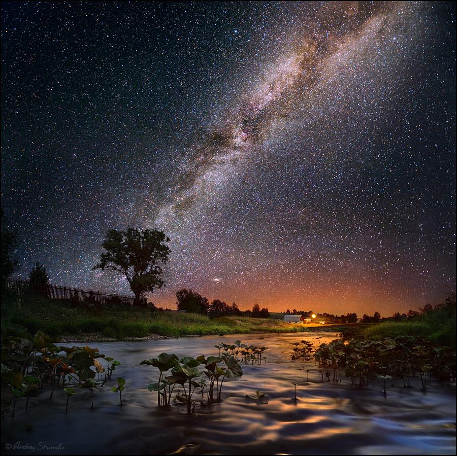 14295 скачать обои Пейзаж, Вода, Река, Закат, Небо, Звезды - заставки и картинки бесплатно