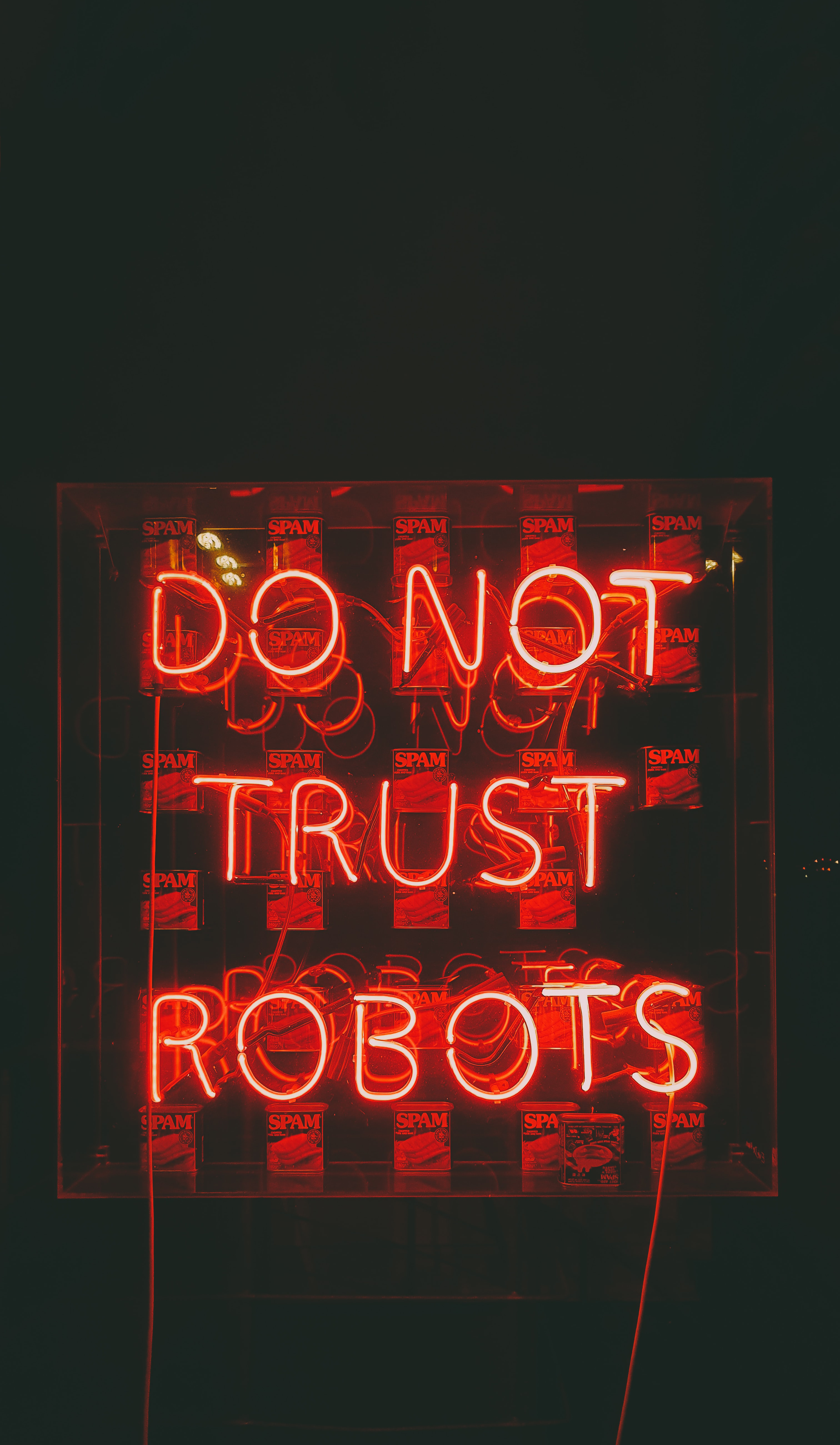 120613 Screensavers and Wallpapers Robots for phone. Download Words, Text, Neon, Confidence, Trust, Robots pictures for free