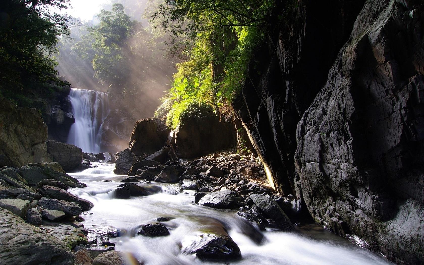 34872 скачать обои Пейзаж, Река, Водопады - заставки и картинки бесплатно