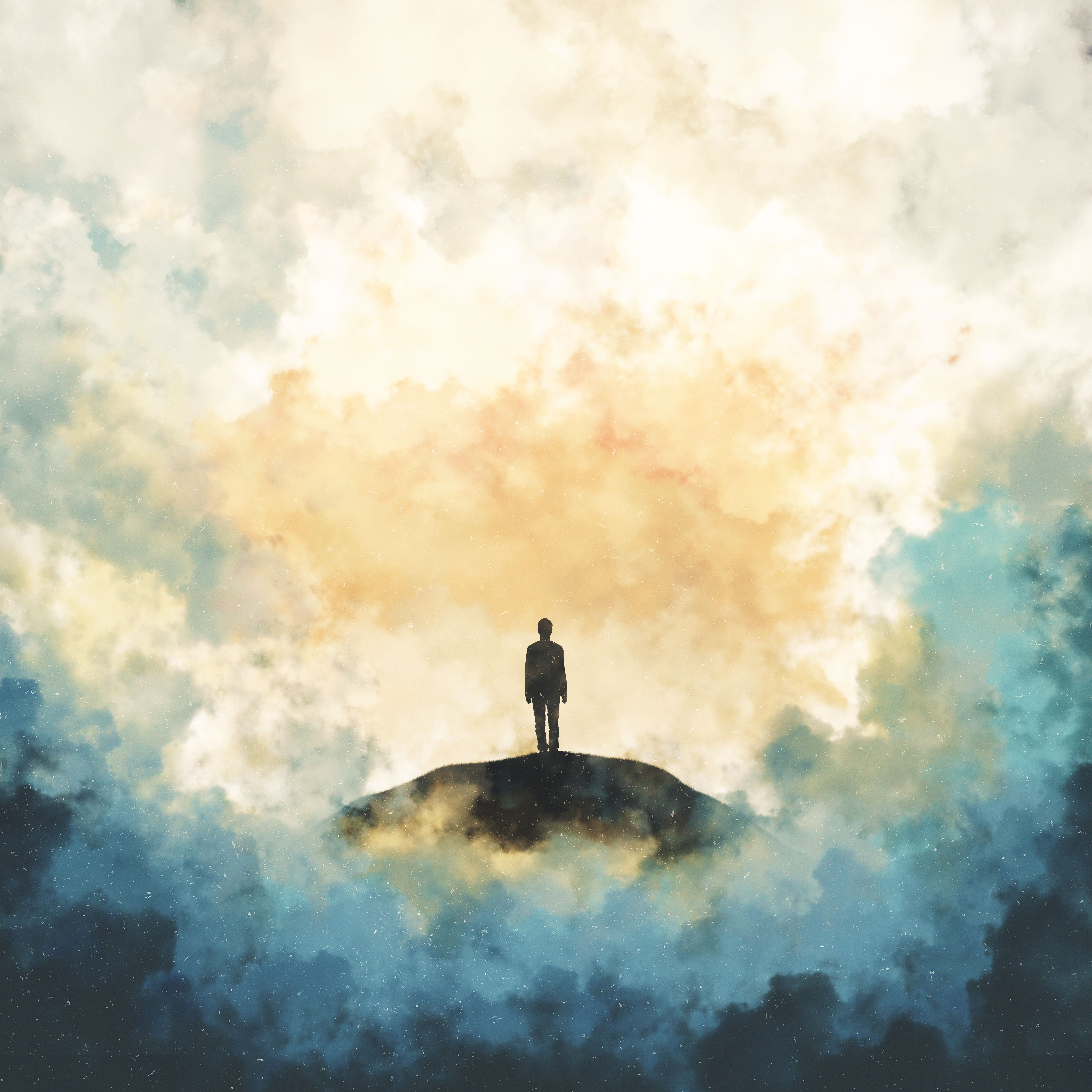 156302 download wallpaper Silhouette, Art, Sky, Loneliness, Alone, Lonely screensavers and pictures for free