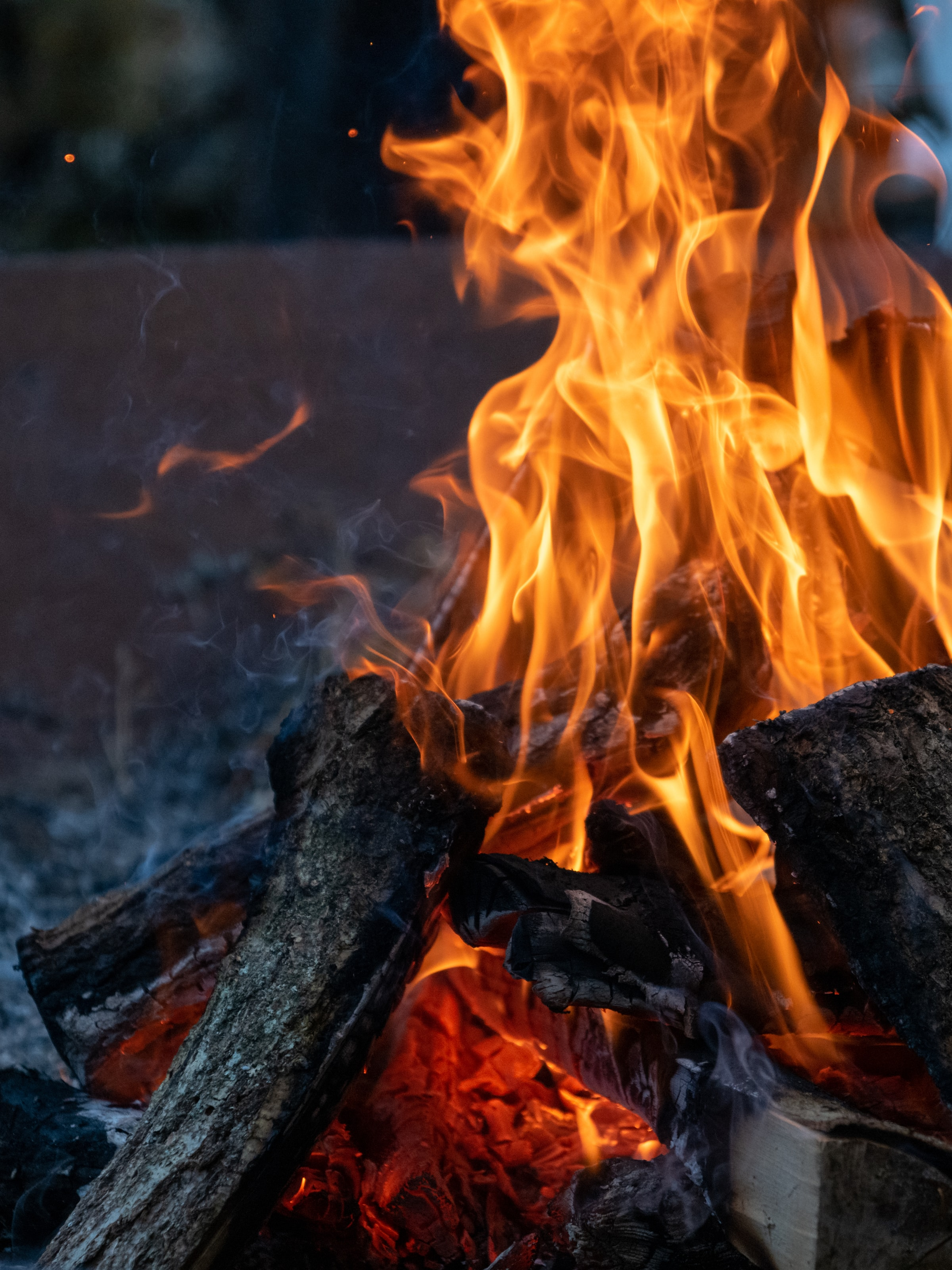 124300 Screensavers and Wallpapers Bonfire for phone. Download Fire, Bonfire, Flame, Miscellanea, Miscellaneous, Evening, Firewood pictures for free