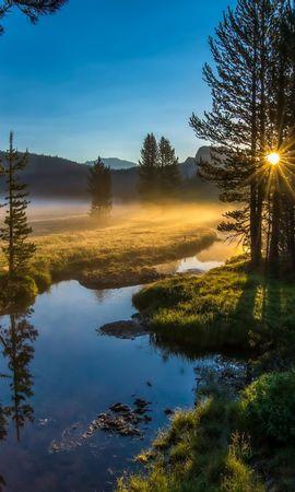 21743 скачать обои Пейзаж, Река, Деревья, Солнце - заставки и картинки бесплатно