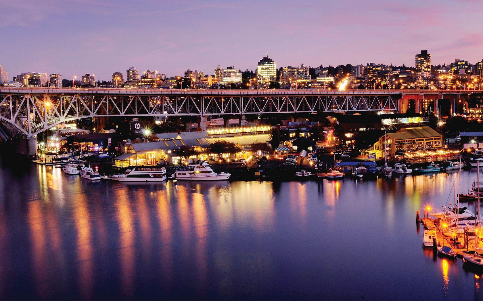 82993 Заставки и Обои Яхты на телефон. Скачать Канада, Ванкувер, Город, Мост, Пирс, Города, Яхты картинки бесплатно