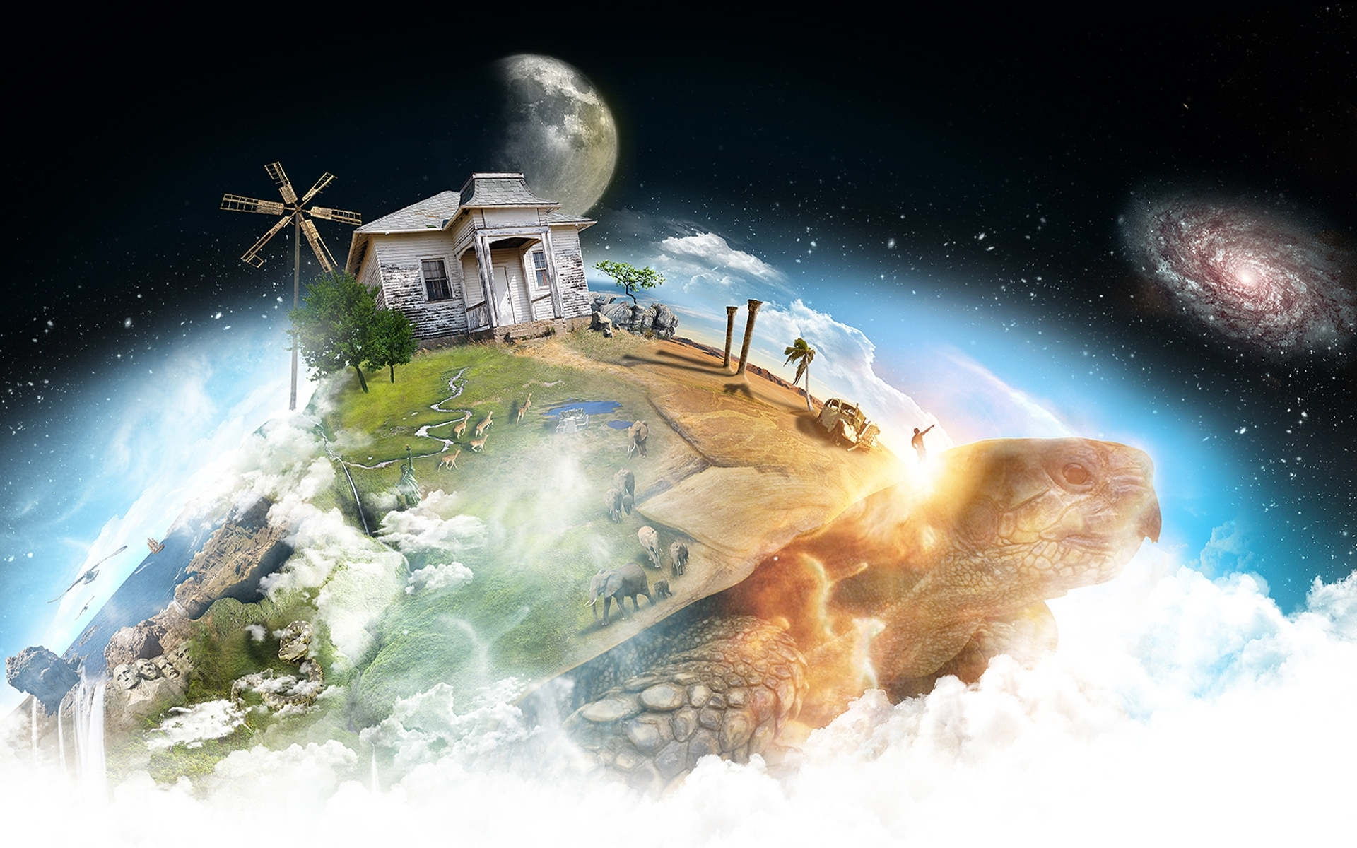 40571 download wallpaper Landscape, Fantasy, Planets screensavers and pictures for free