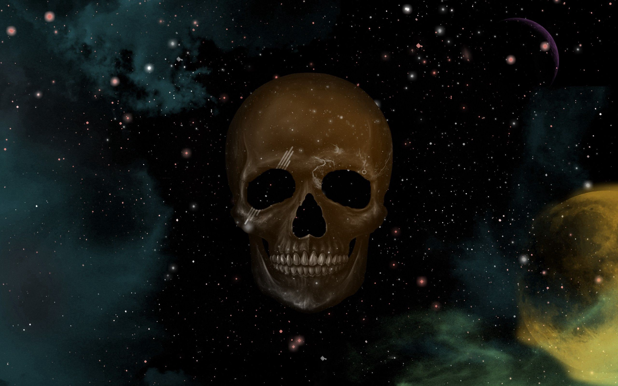 67926 download wallpaper Abstract, Skull, Sky, Points, Point, Picture, Drawing, Stars screensavers and pictures for free