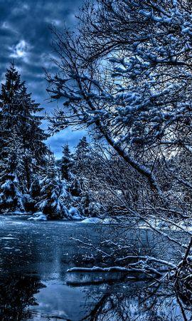 88400 Salvapantallas y fondos de pantalla Nieve en tu teléfono. Descarga imágenes de Naturaleza, Invierno, Árboles, Ríos, Lago, Nieve, Hielo, Hdr gratis