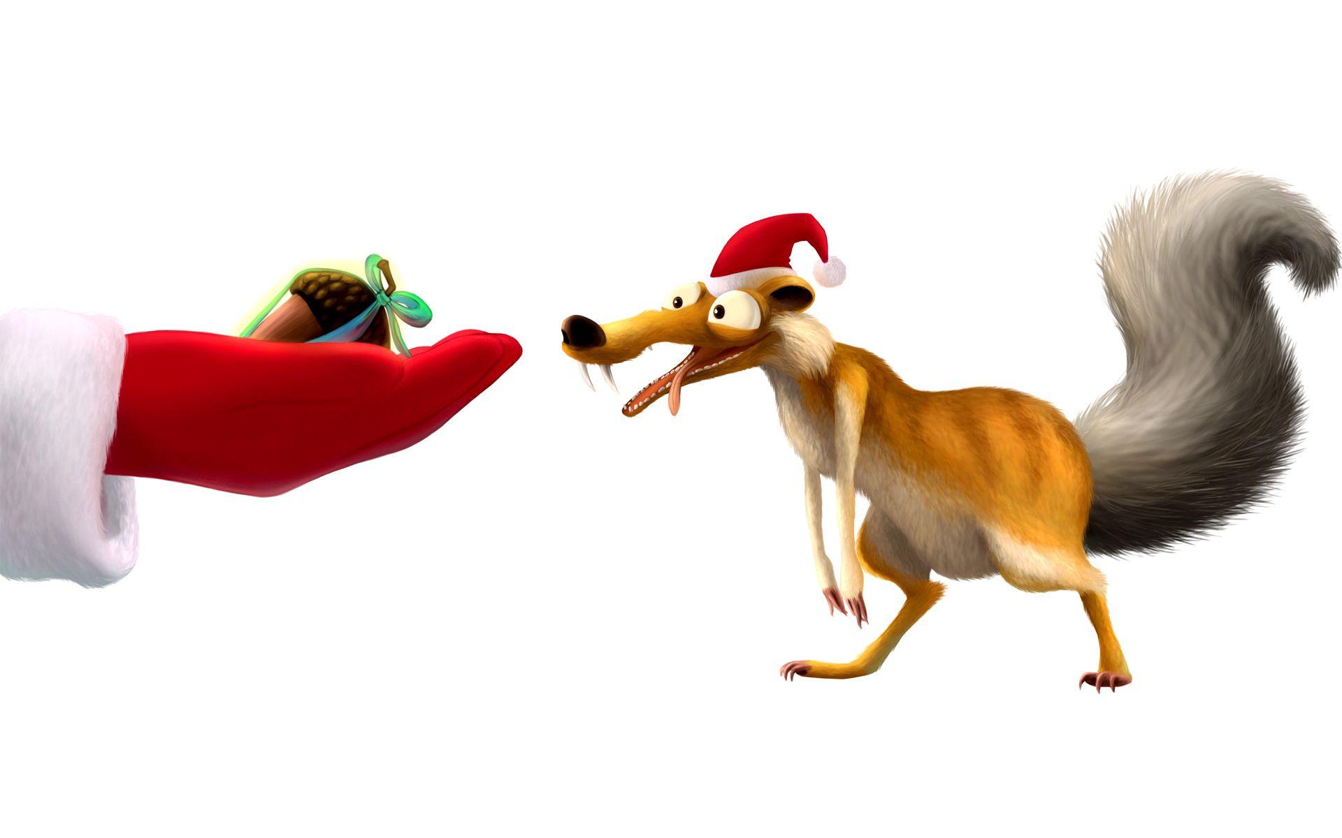 119517 Hintergrundbild herunterladen Eichhörnchen, Eiszeit, Neujahr, Verschiedenes, Sonstige, Neues Jahr, Nuss, Mutter - Bildschirmschoner und Bilder kostenlos