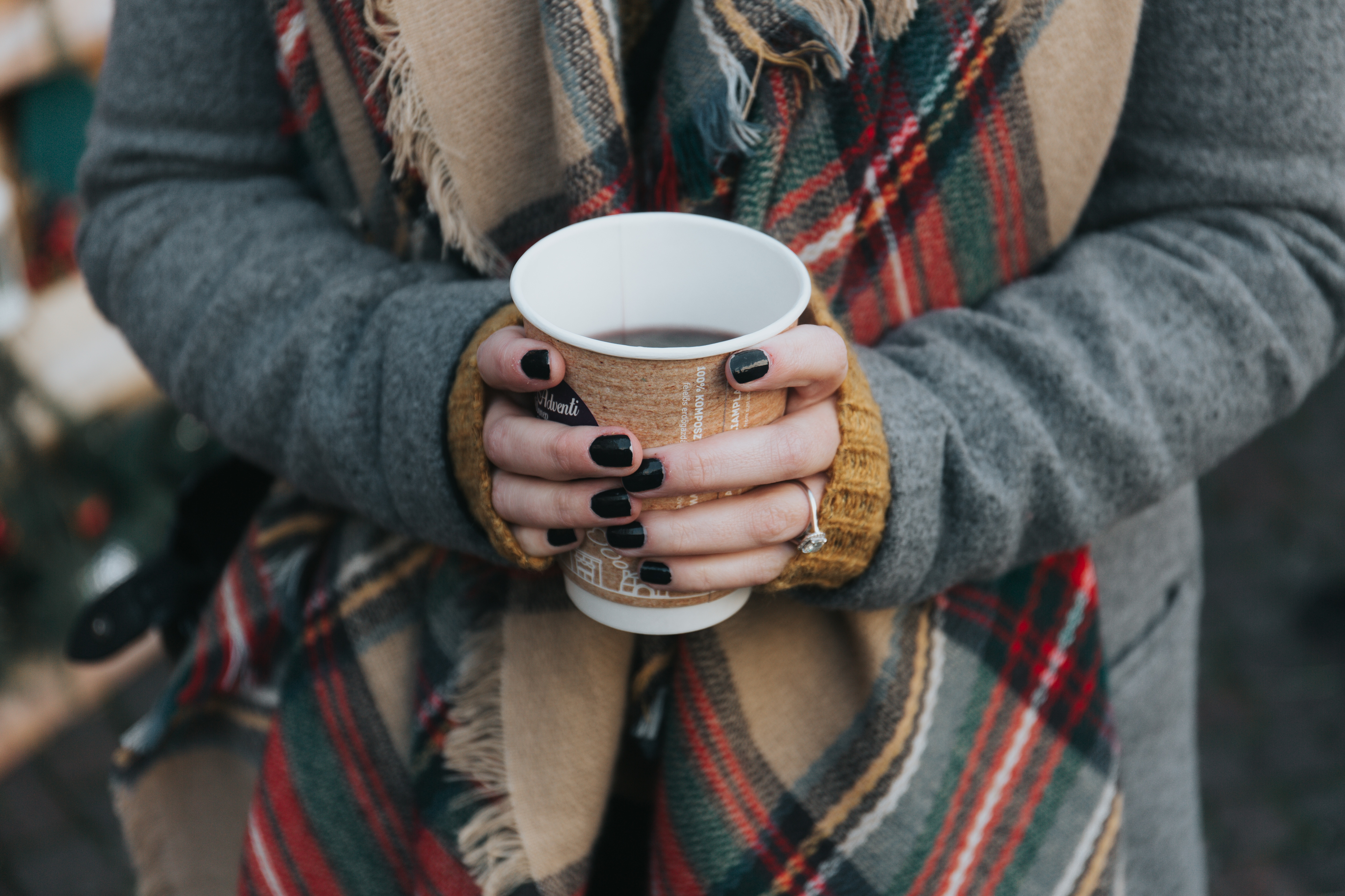 96075 Screensavers and Wallpapers Scarf for phone. Download Food, Coffee, Glass, Hands, Scarf pictures for free