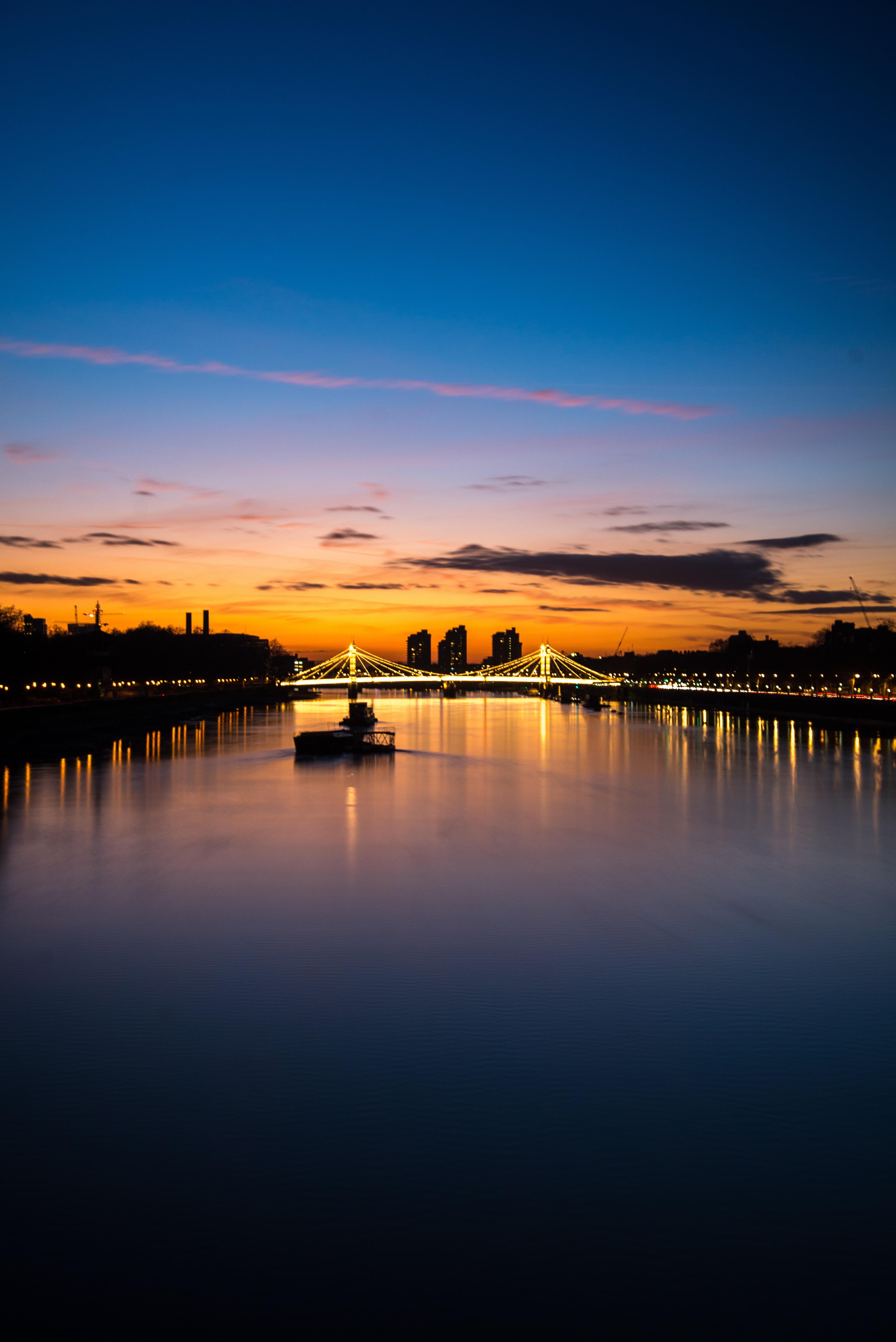 81966 Hintergrundbild herunterladen Städte, Flüsse, London, Nächtliche Stadt, Night City, Lichter Der Stadt, City Lights, Brücke - Bildschirmschoner und Bilder kostenlos