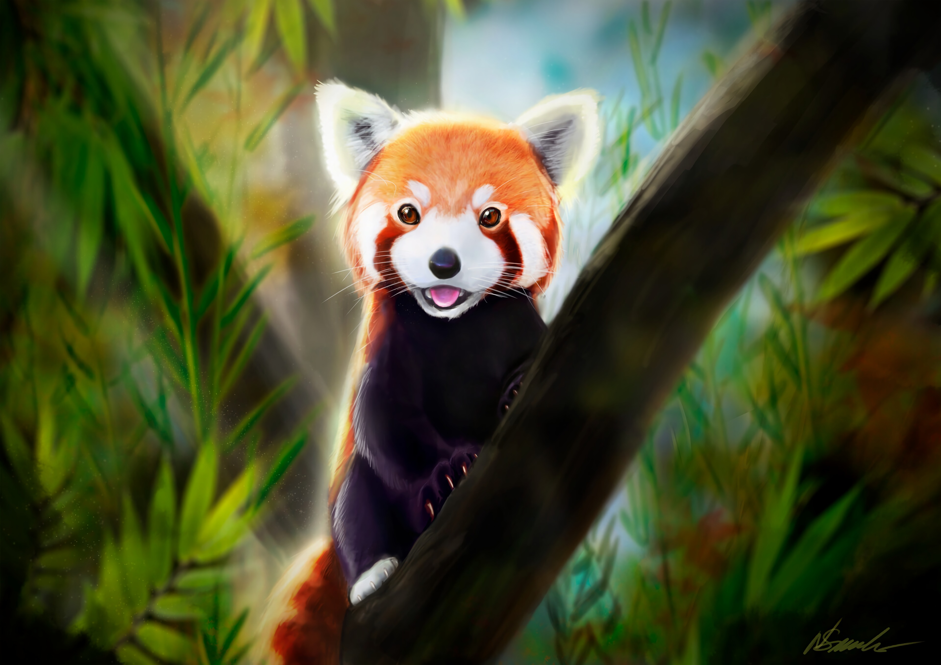 116410 Screensavers and Wallpapers Protruding Tongue for phone. Download Little Panda, Small Panda, Protruding Tongue, Tongue Stuck Out, Art, Animal, Nice, Sweetheart pictures for free