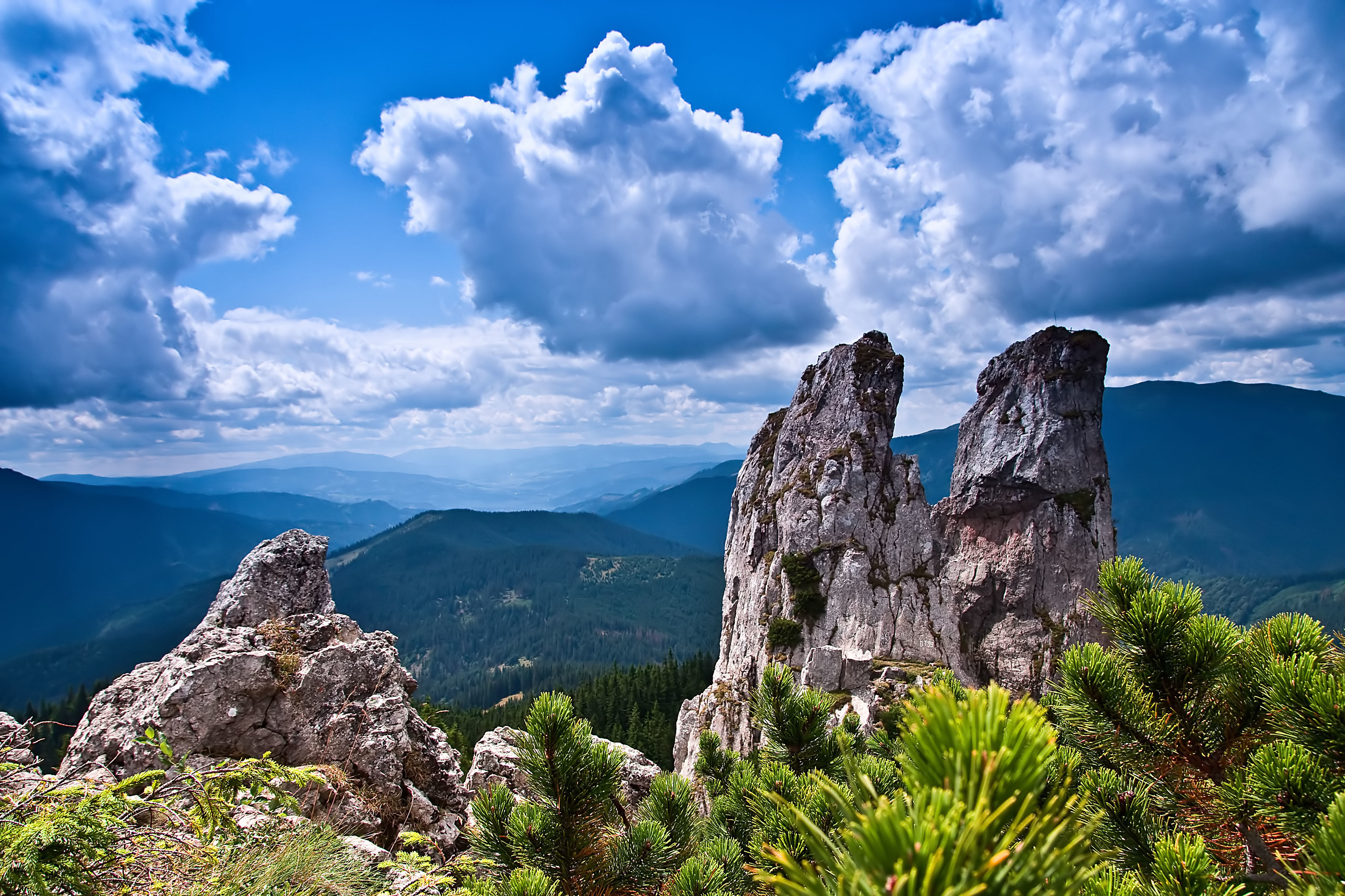 87525 Screensavers and Wallpapers Rocks for phone. Download Nature, Trees, Sky, Mountains, Bush, Rocks pictures for free