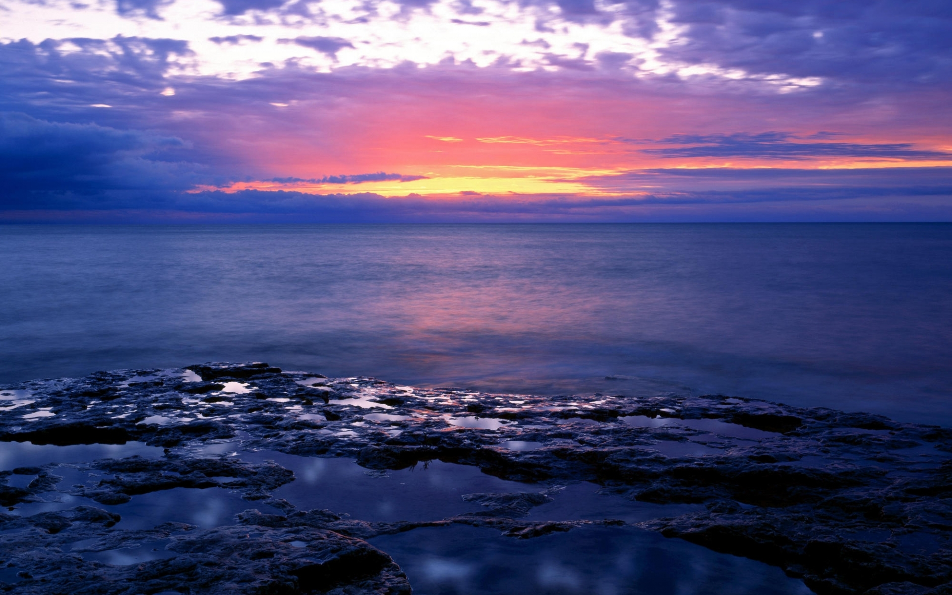 1891 download wallpaper Landscape, Water, Sunset, Sea screensavers and pictures for free
