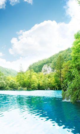 22548 скачать обои Пейзаж, Небо, Водопады, Озера - заставки и картинки бесплатно