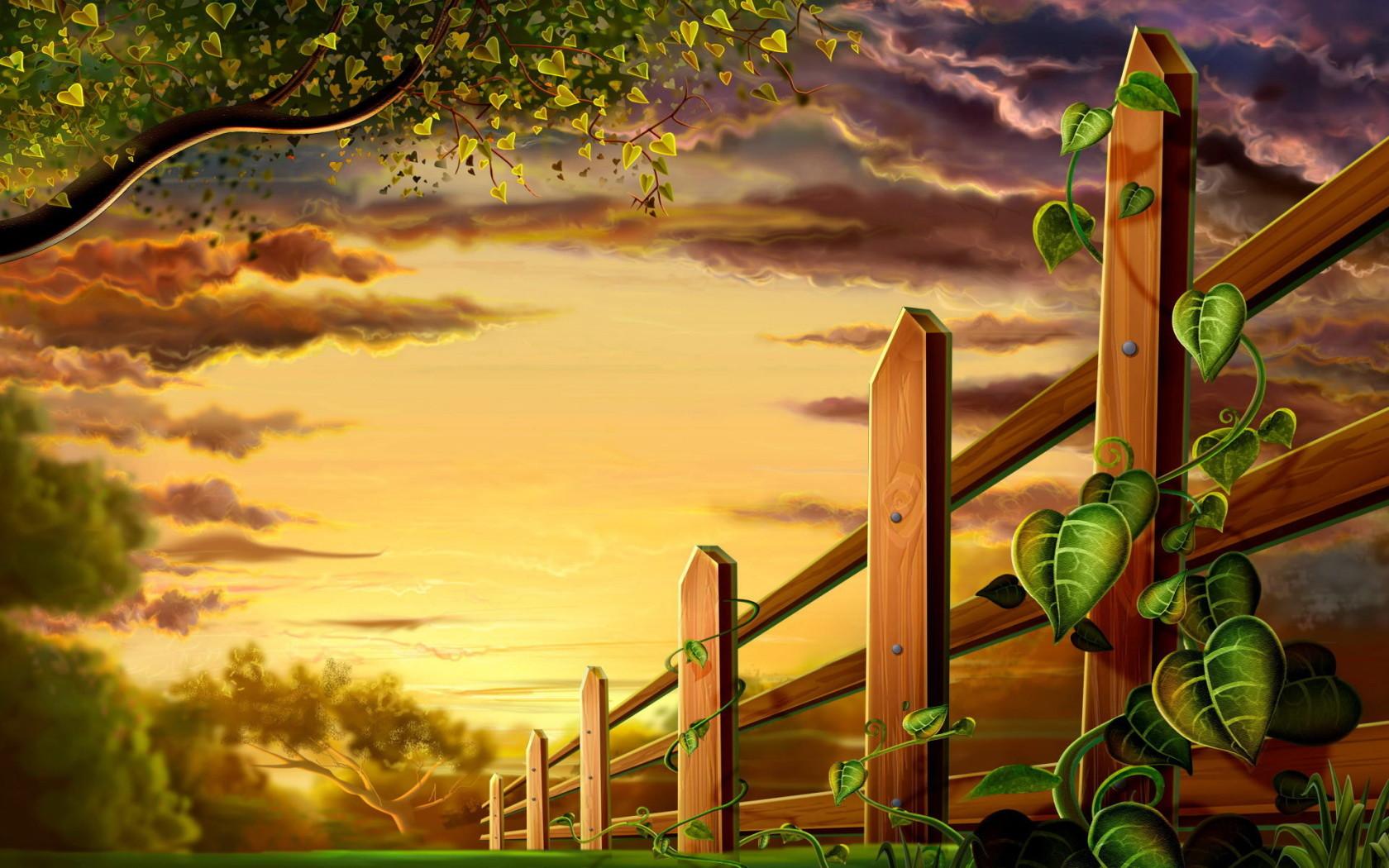 11092 скачать обои Растения, Рисунки - заставки и картинки бесплатно