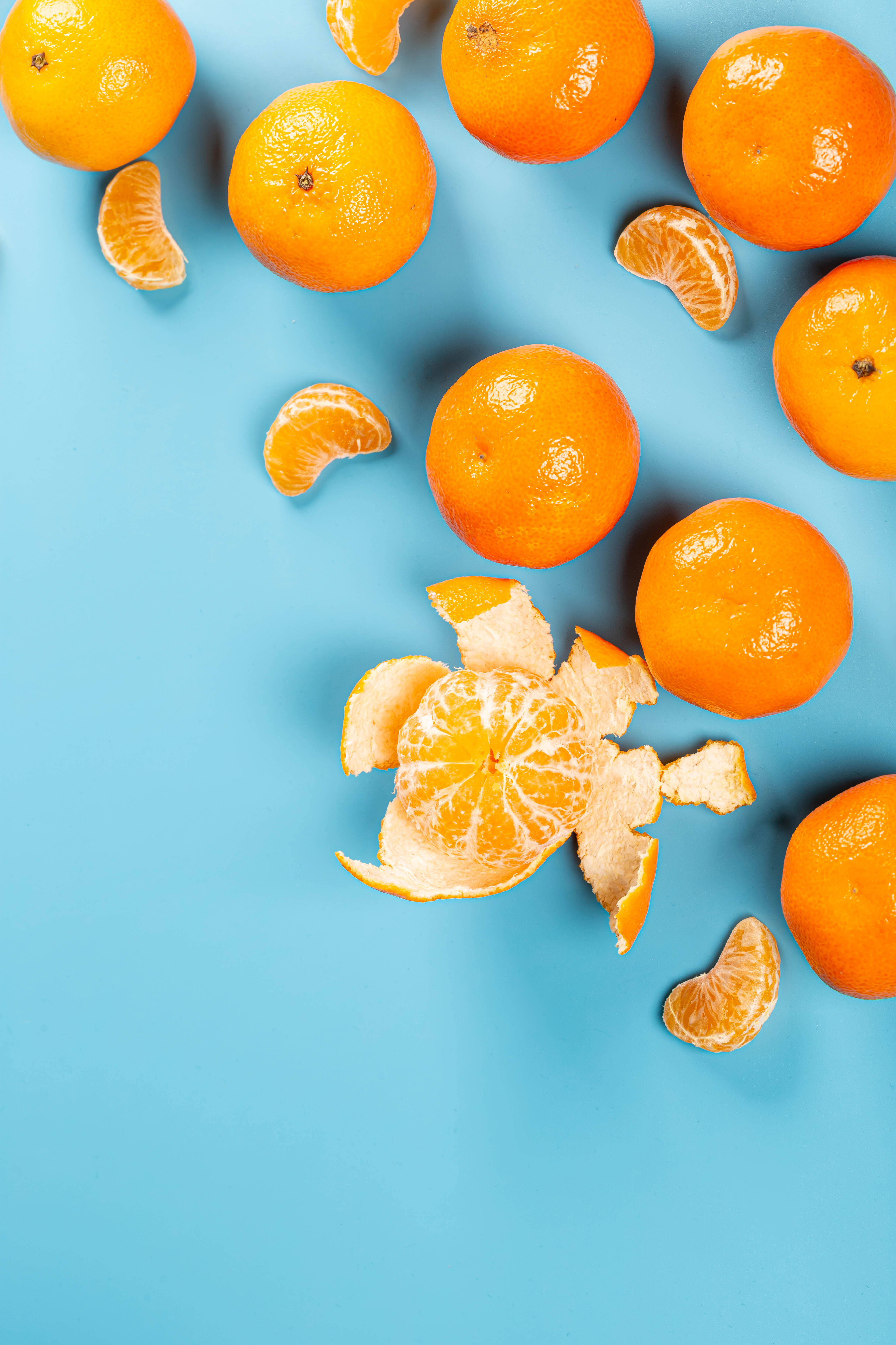 146368 download wallpaper Fruits, Food, Tangerines, Citrus, Lobules, Slices screensavers and pictures for free