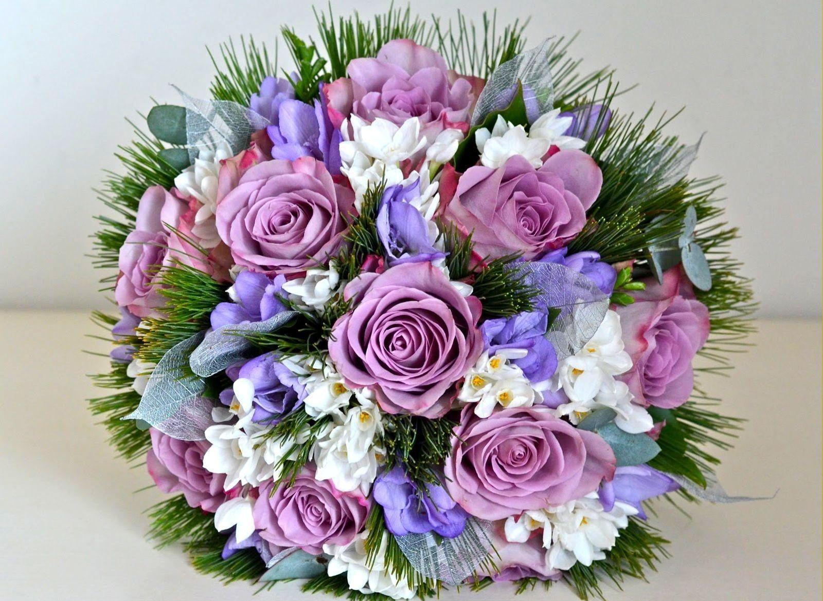 54798 скачать обои Цветы, Букет, Оформление, Зелень, Красиво, Розы - заставки и картинки бесплатно