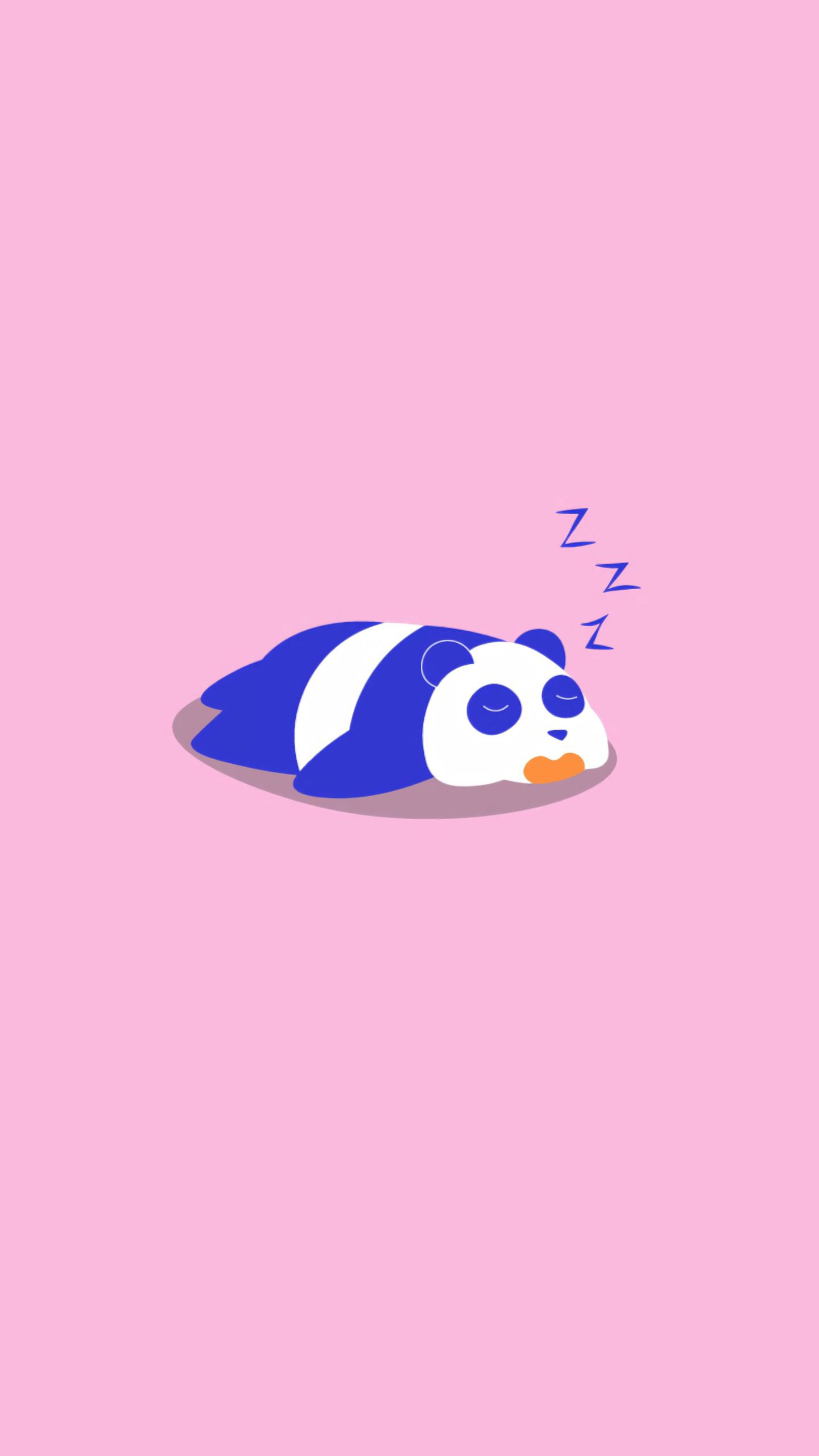 52216 download wallpaper Vector, Panda, Sleep, Dream, Art, Cool, Minimalism screensavers and pictures for free