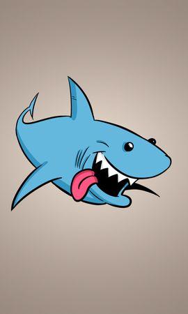 70209 télécharger le fond d'écran Vecteur, Requin, Art, Contexte, Langue Saillante, La Langue Est Sortie - économiseurs d'écran et images gratuitement