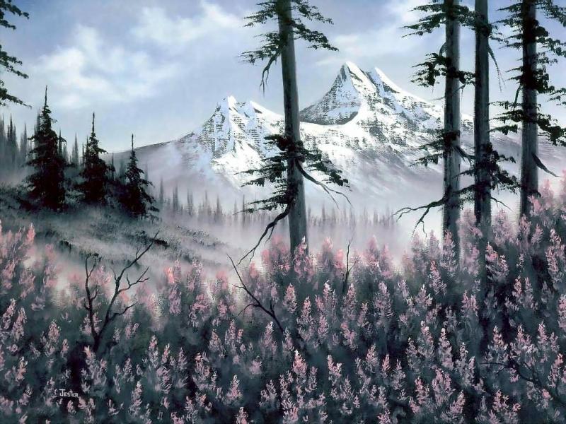 29369 скачать обои Пейзаж, Горы, Рисунки - заставки и картинки бесплатно