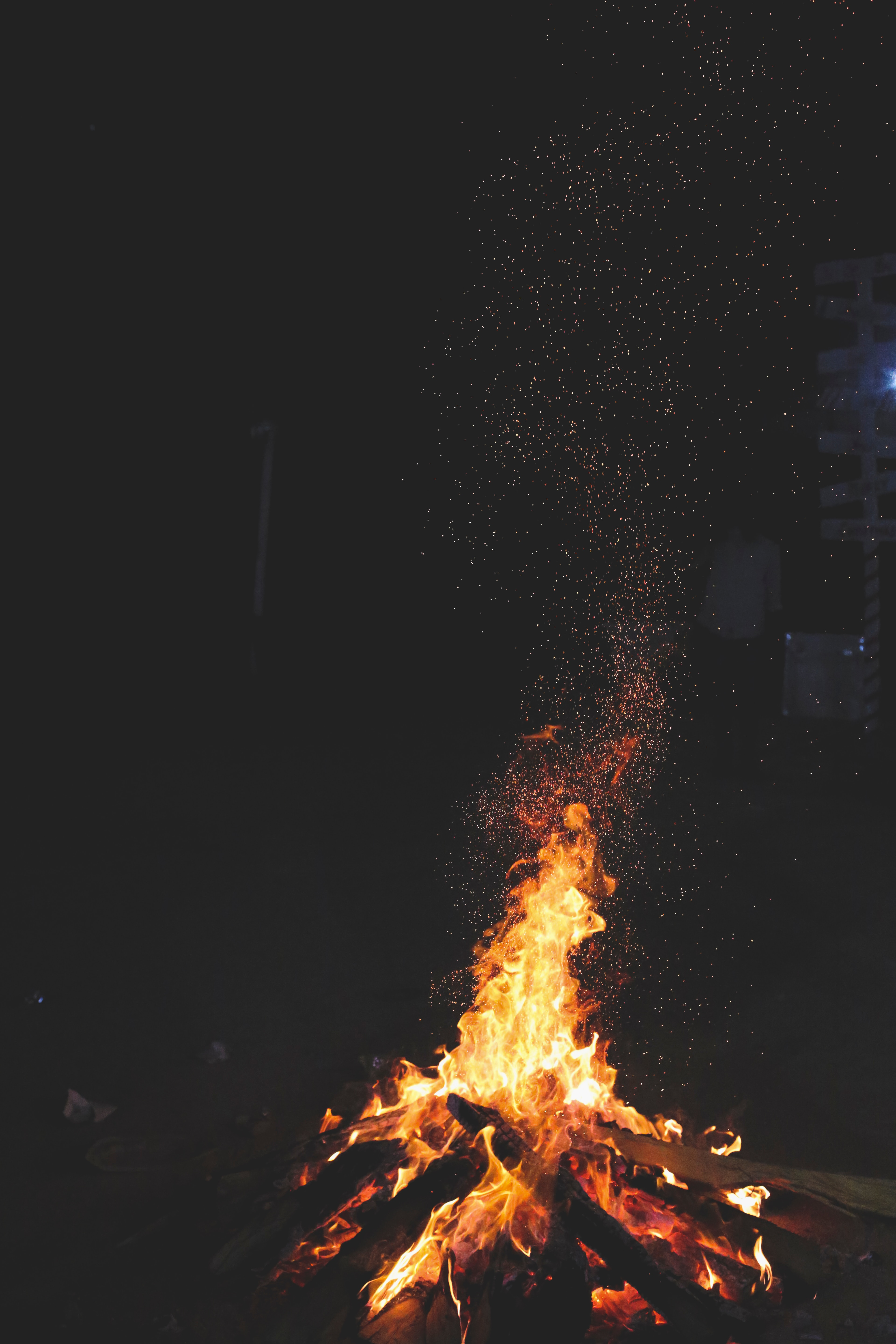85842 Screensavers and Wallpapers Bonfire for phone. Download Fire, Bonfire, Night, Dark, Sparks pictures for free