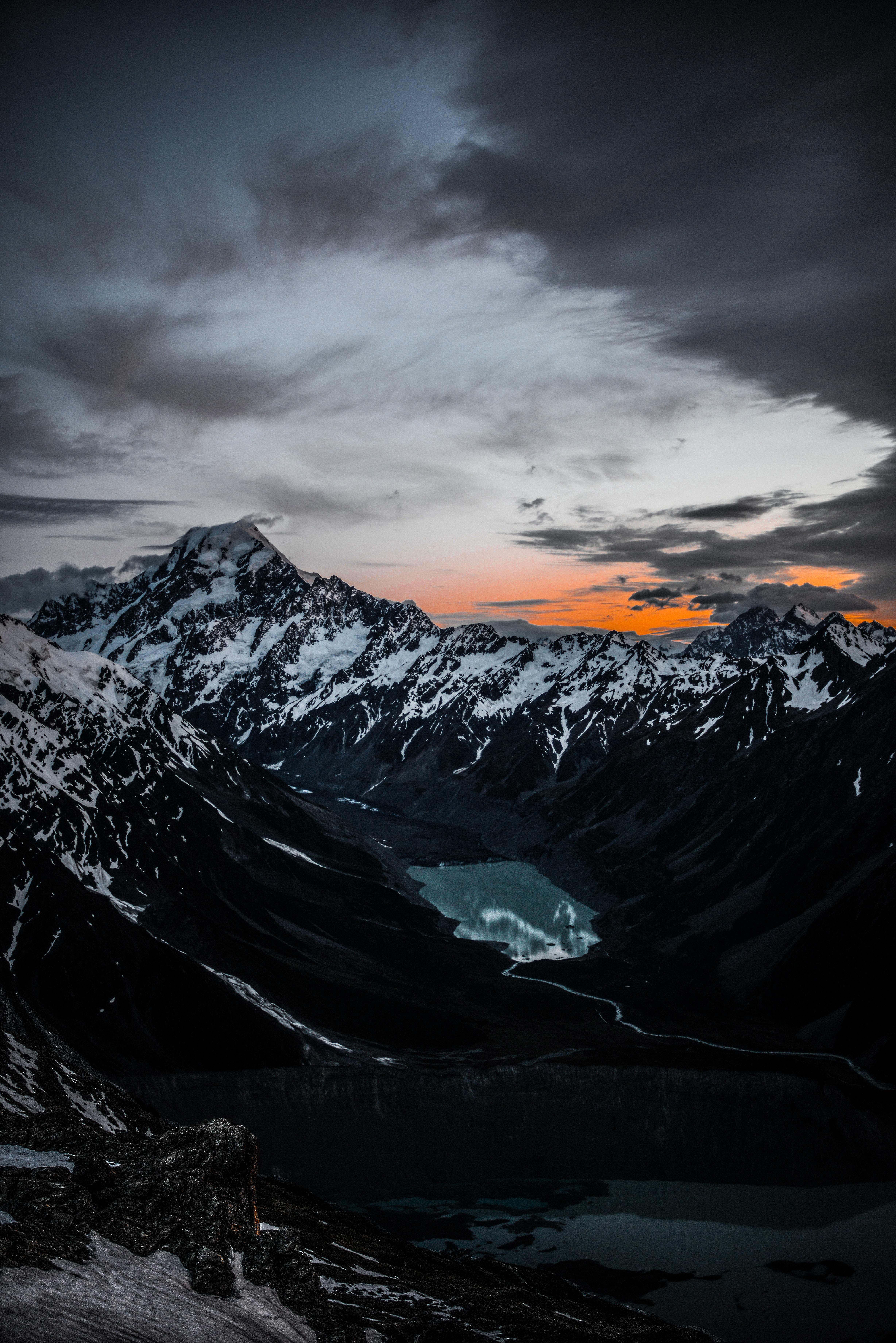 108116 Protetores de tela e papéis de parede Montanhas em seu telefone. Baixe Natureza, Montanhas, Vista De Cima, Ver De Cima, Vértice, Lago, Tops fotos gratuitamente