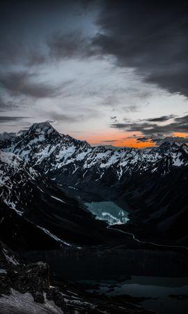 108116壁紙のダウンロード自然, 湖, トップス, 頂点, 上から見る, 山脈-スクリーンセーバーと写真を無料で