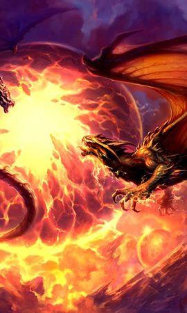 25079 скачать обои Фэнтези, Драконы, Огонь - заставки и картинки бесплатно