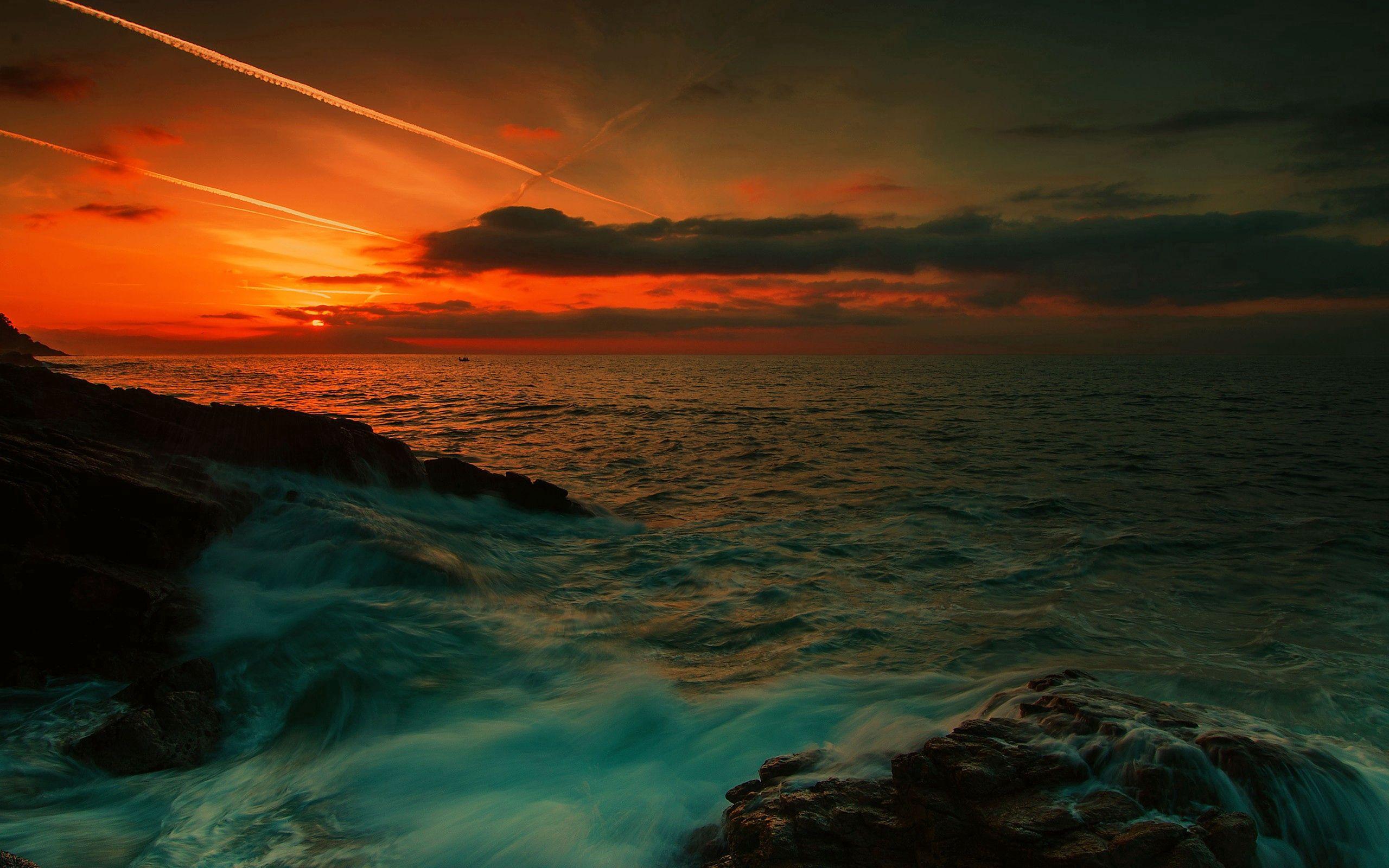 114599 Заставки и Обои Волны на телефон. Скачать Природа, Море, Ночь, Камни, Волны картинки бесплатно
