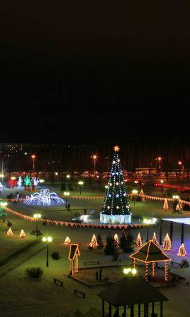 9729 descargar fondo de pantalla Vacaciones, Paisaje, Año Nuevo, Noche, Navidad: protectores de pantalla e imágenes gratis