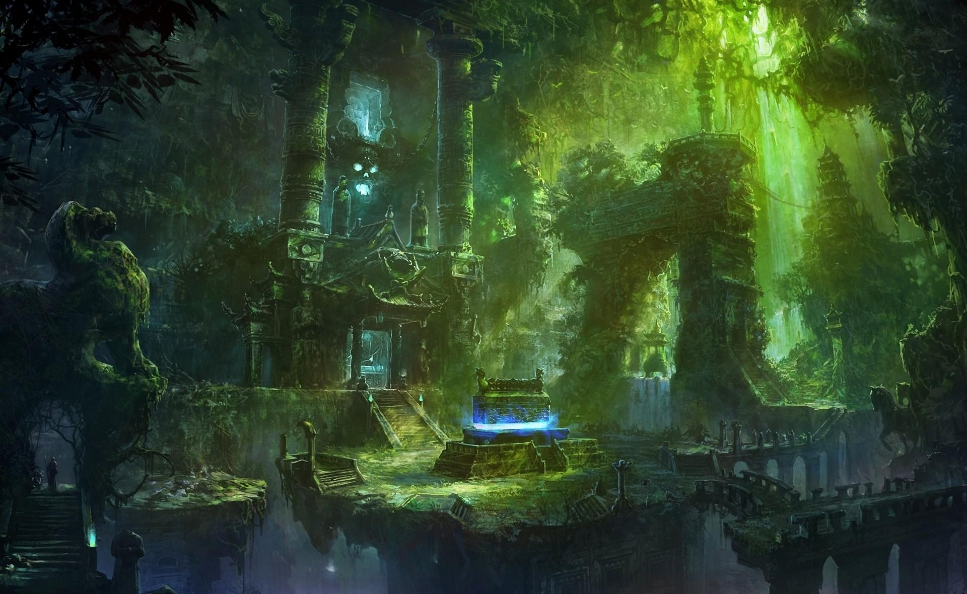 97553 Screensavers and Wallpapers Lock for phone. Download Fantasy, Lock, Stairs, Ladder, Wreckage, Detritus, Thickets, Thicket, Tomb, Sepulchre pictures for free