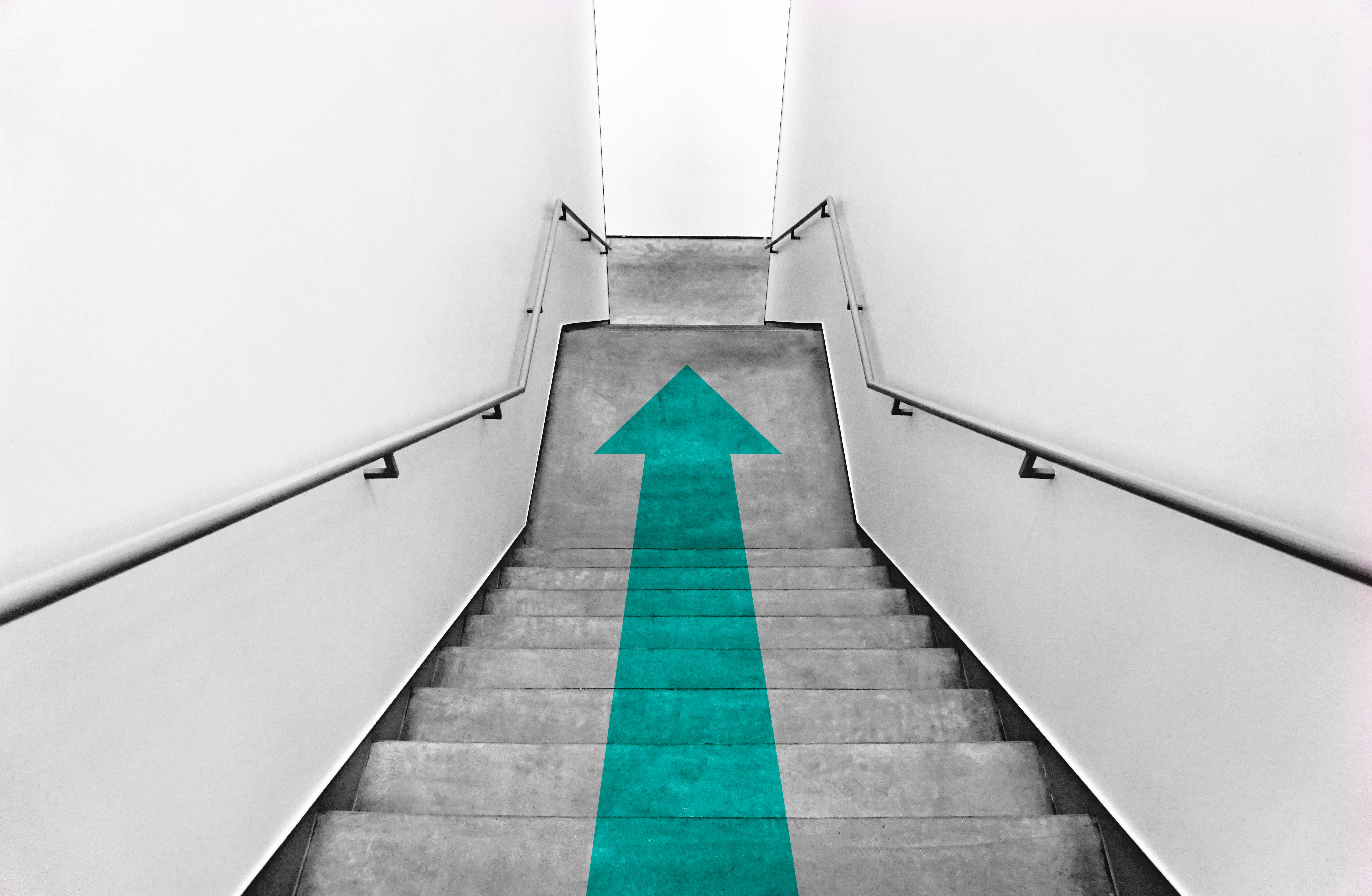 77661 download wallpaper Minimalism, Stairs, Ladder, Arrow, Pointer screensavers and pictures for free