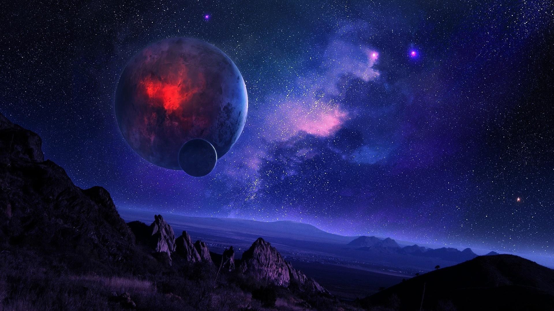 32860 скачать обои Планеты, Фэнтези, Пейзаж - заставки и картинки бесплатно