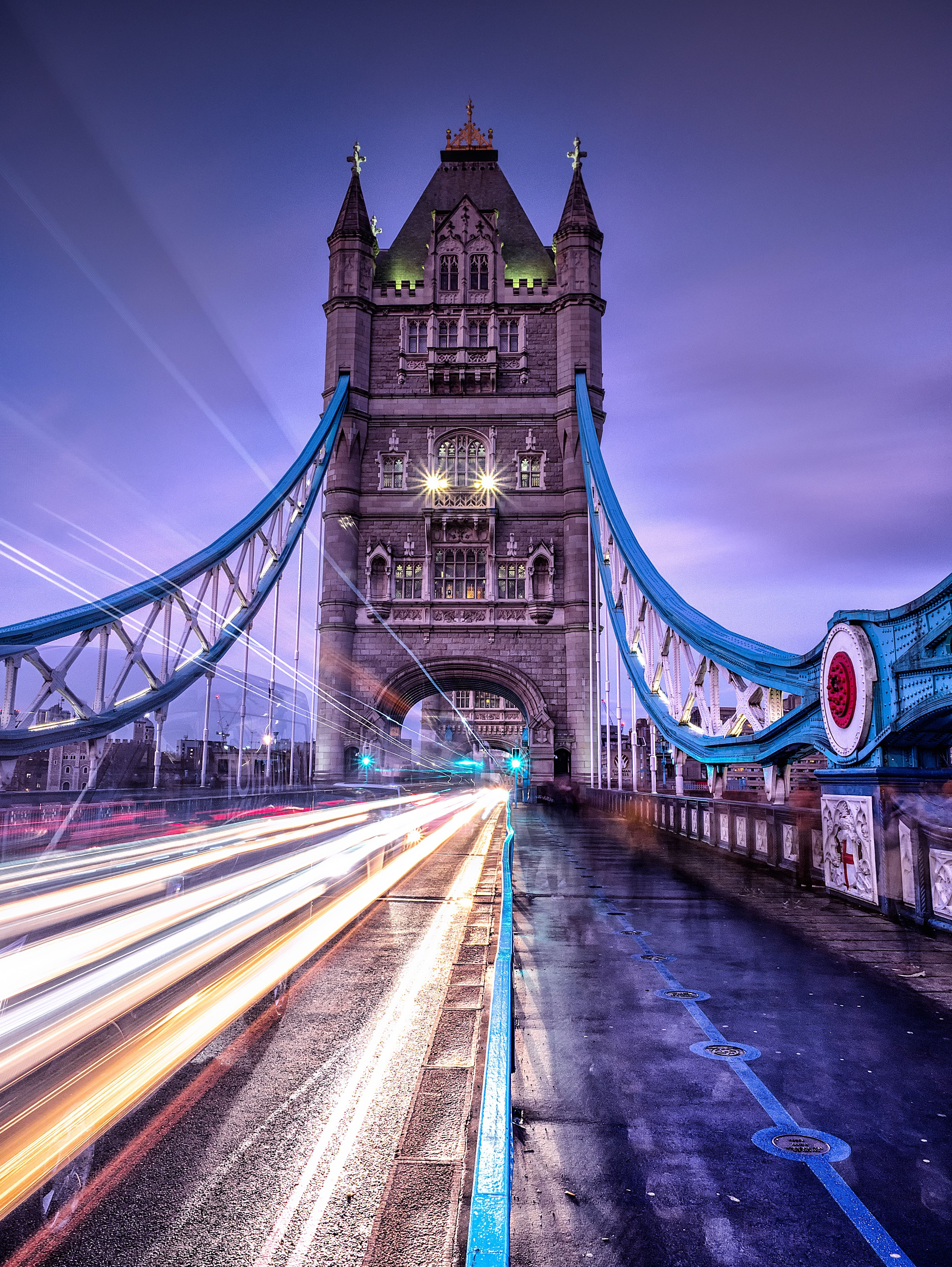 73481 Screensavers and Wallpapers London for phone. Download Cities, Architecture, London, Bridge, Illumination, Long-Term Exposure, Lighting pictures for free