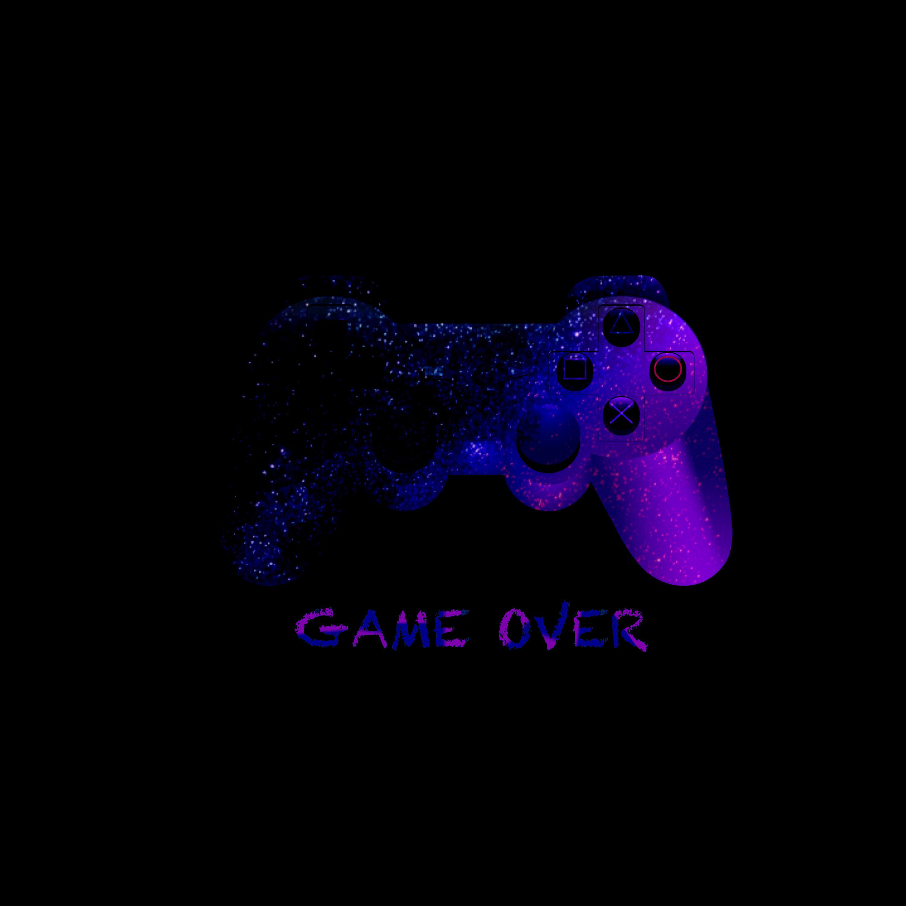 138236 download wallpaper Words, Game Over, Joystick, Controller, Gamepad, Neon screensavers and pictures for free