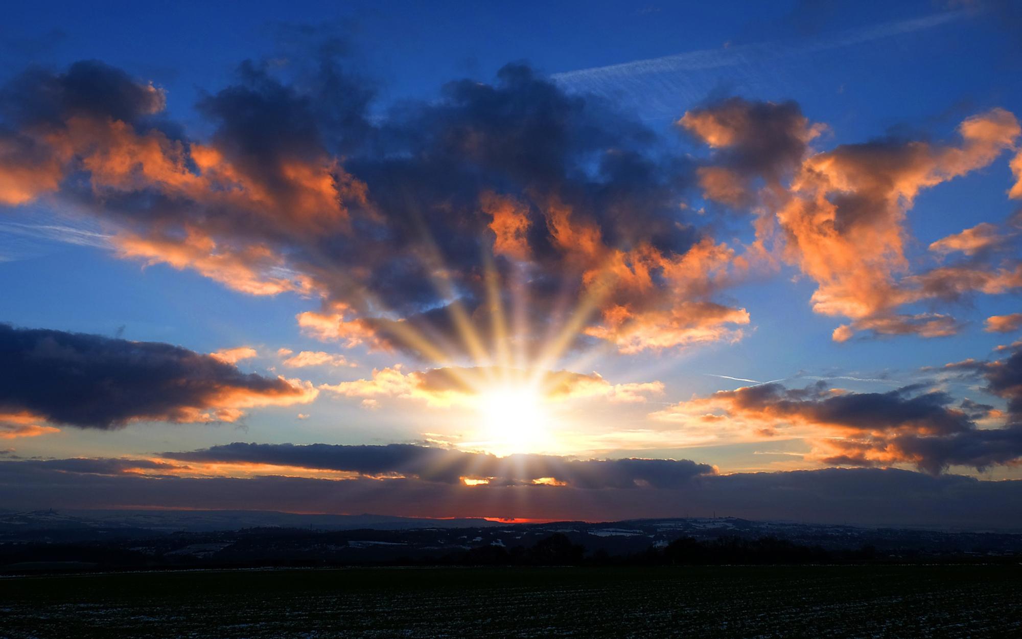 63244 télécharger le fond d'écran Nature, Coucher De Soleil, Sky, Nuages, Horizon - économiseurs d'écran et images gratuitement