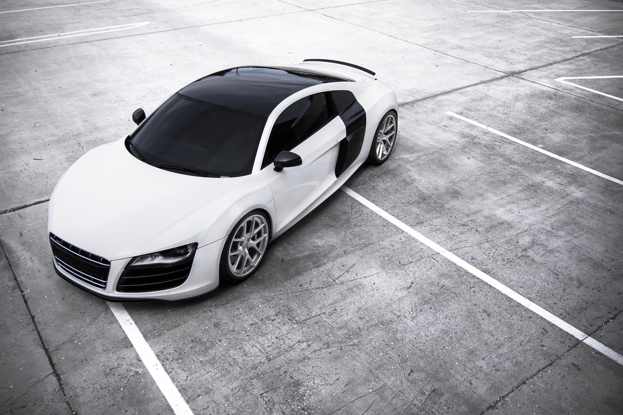 104917 Hintergrundbild 1280x800 kostenlos auf deinem Handy, lade Bilder Audi, Cars, Blick Von Oben, R8 1280x800 auf dein Handy herunter
