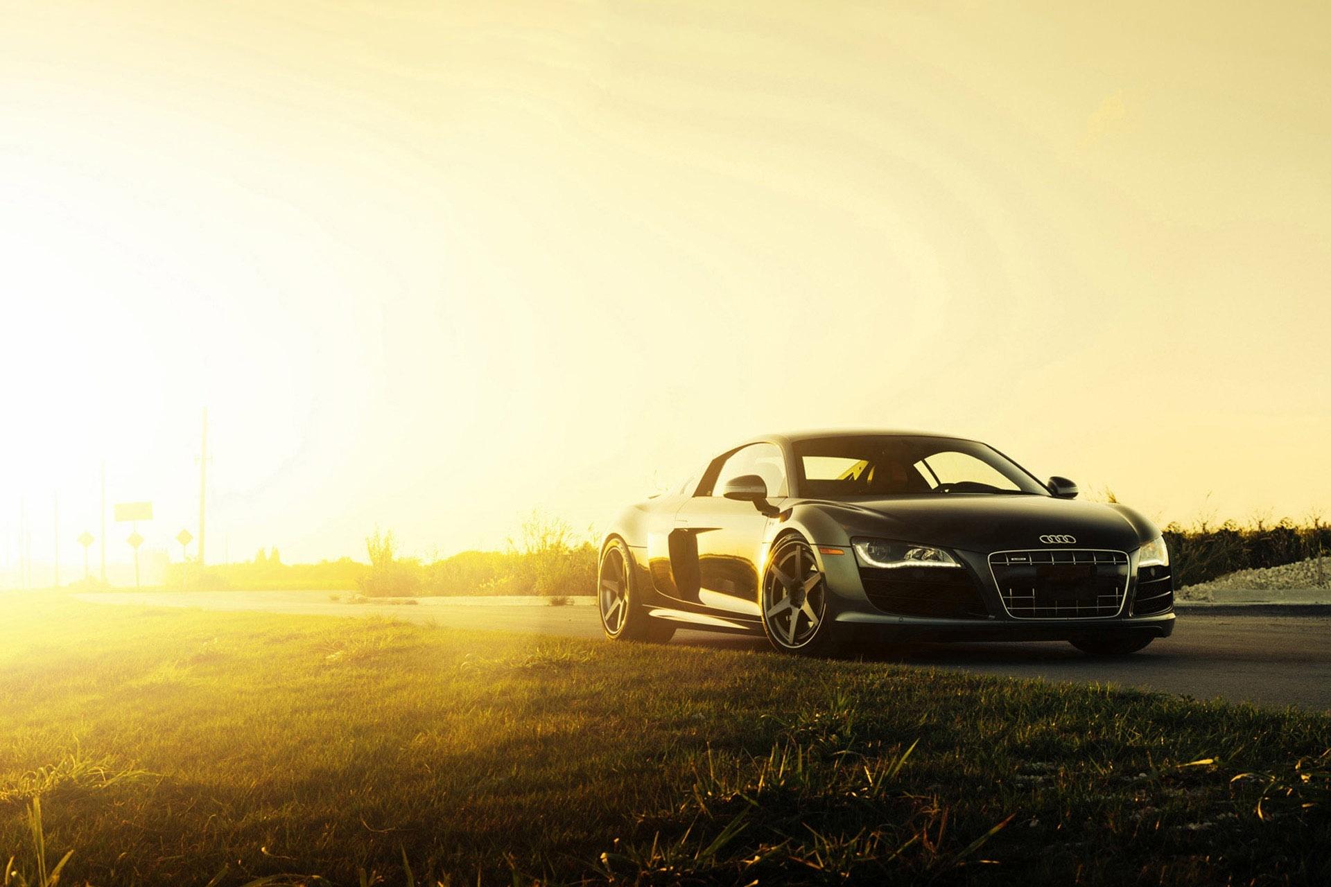 80814 Hintergrundbild herunterladen Audi, Cars, Das Schwarze, Seitenansicht, R8, V10 - Bildschirmschoner und Bilder kostenlos