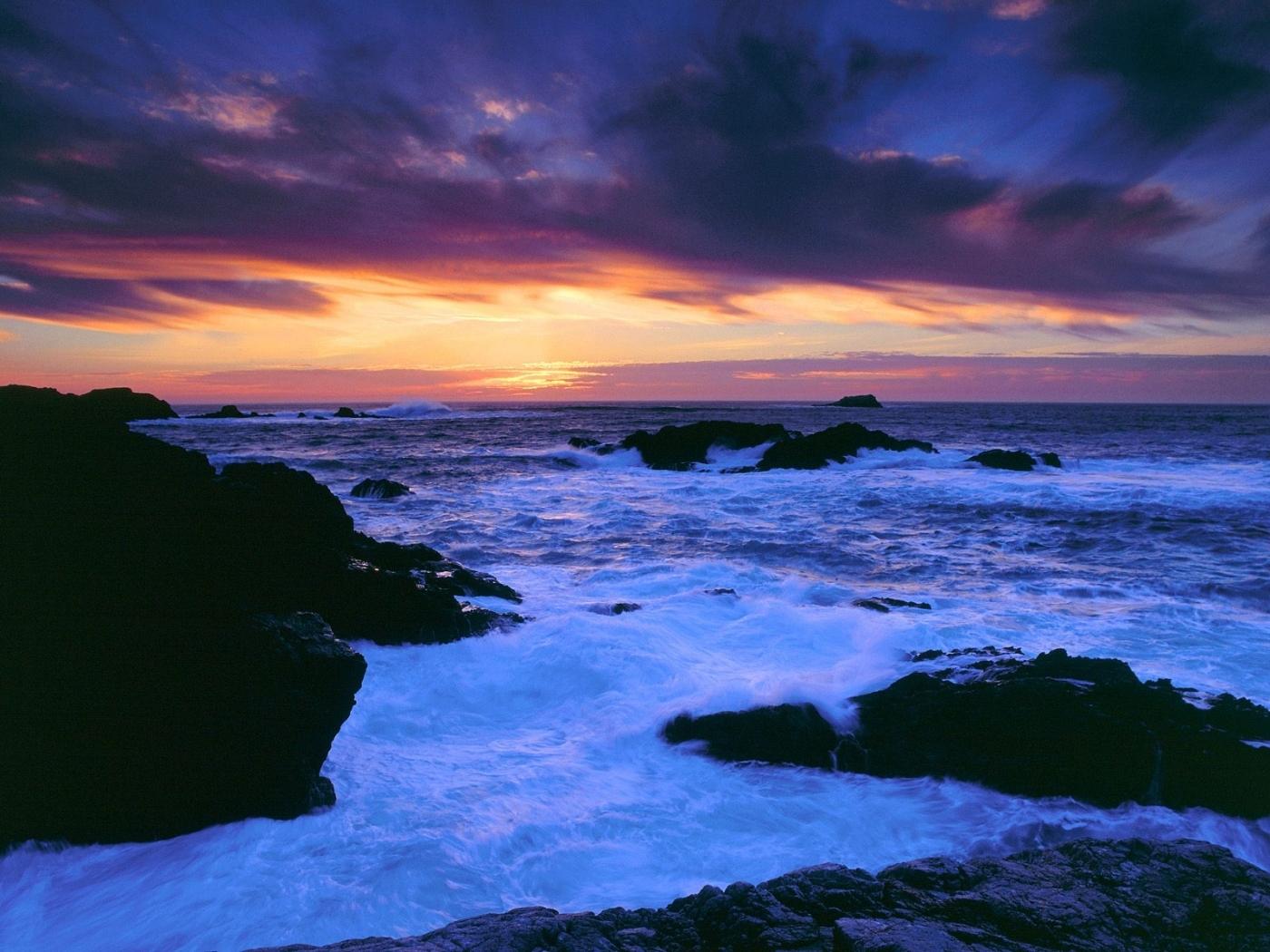 24289 скачать обои Пейзаж, Закат, Море, Облака, Волны - заставки и картинки бесплатно