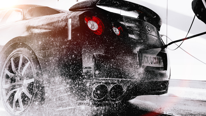 109911 Заставки и Обои Тачки (Cars) на телефон. Скачать Тачки (Cars), Автомобиль, Брызги, Мойка, Nissan R35 Gt-R картинки бесплатно