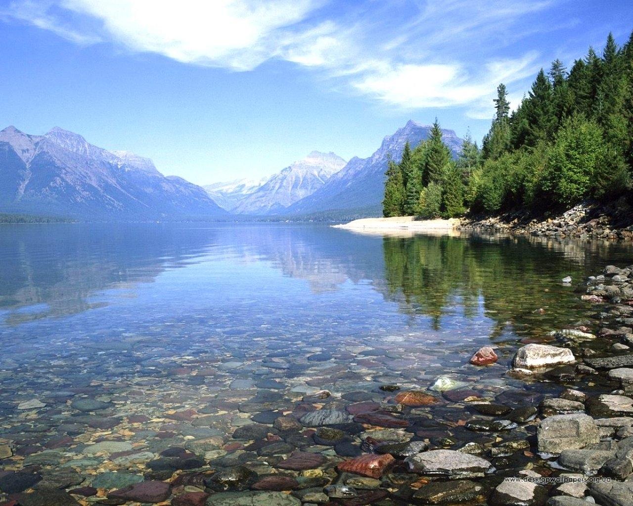 3461 скачать обои Пейзаж, Вода, Деревья, Камни, Озера - заставки и картинки бесплатно