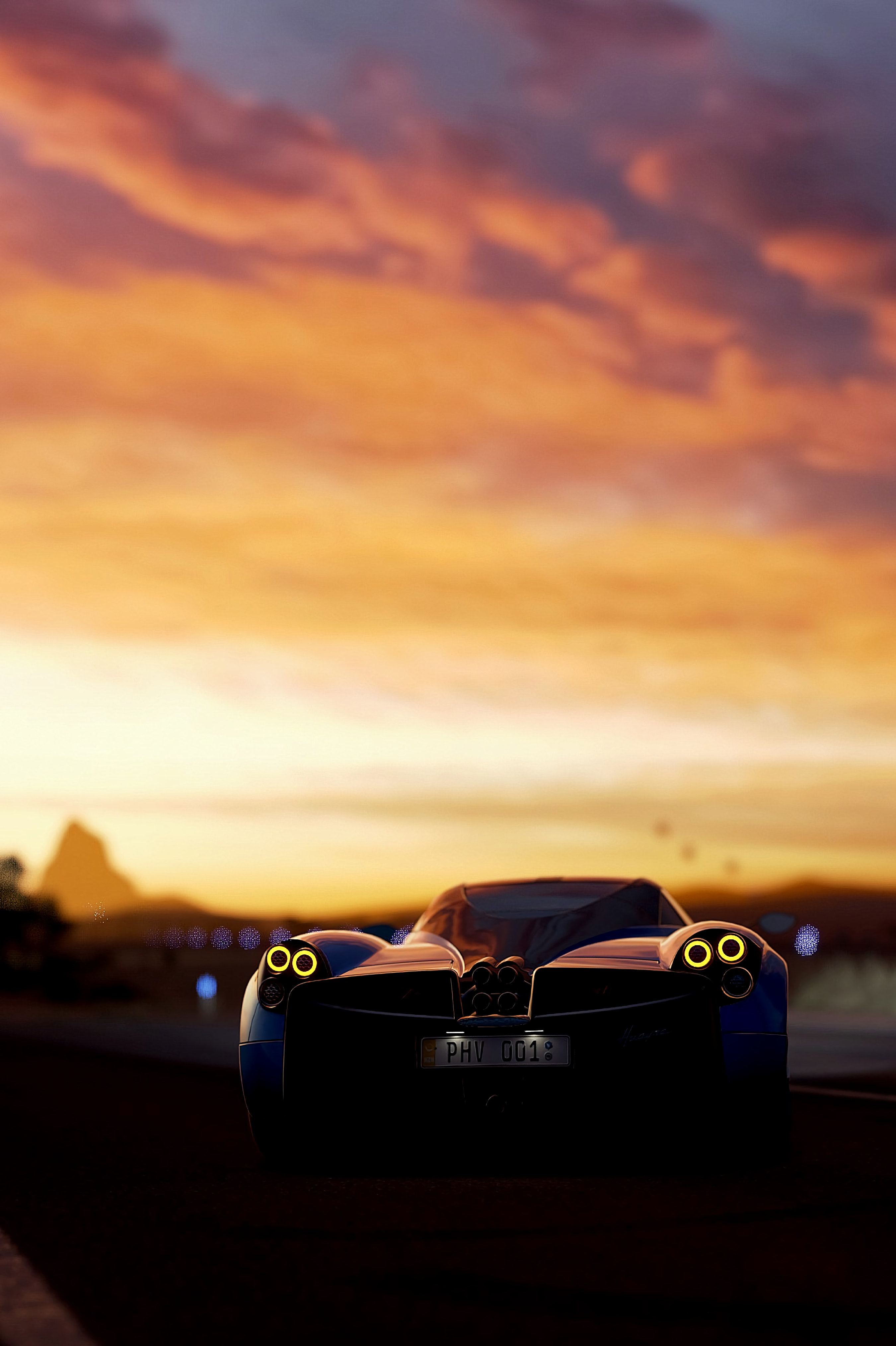 152240 download wallpaper Sports, Races, Pagani, Cars, Sports Car, Back View, Rear View, Pagani Huayra screensavers and pictures for free