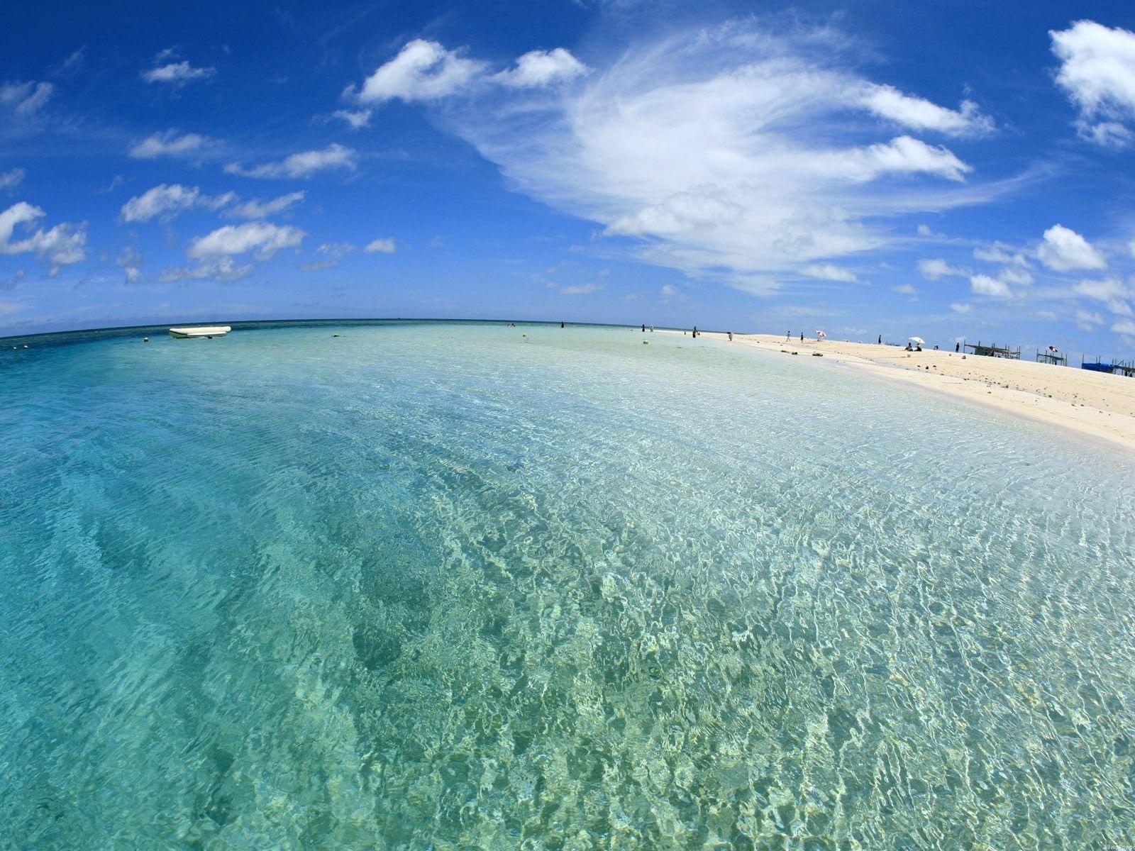 16958 скачать обои Пейзаж, Небо, Море, Облака, Пляж - заставки и картинки бесплатно