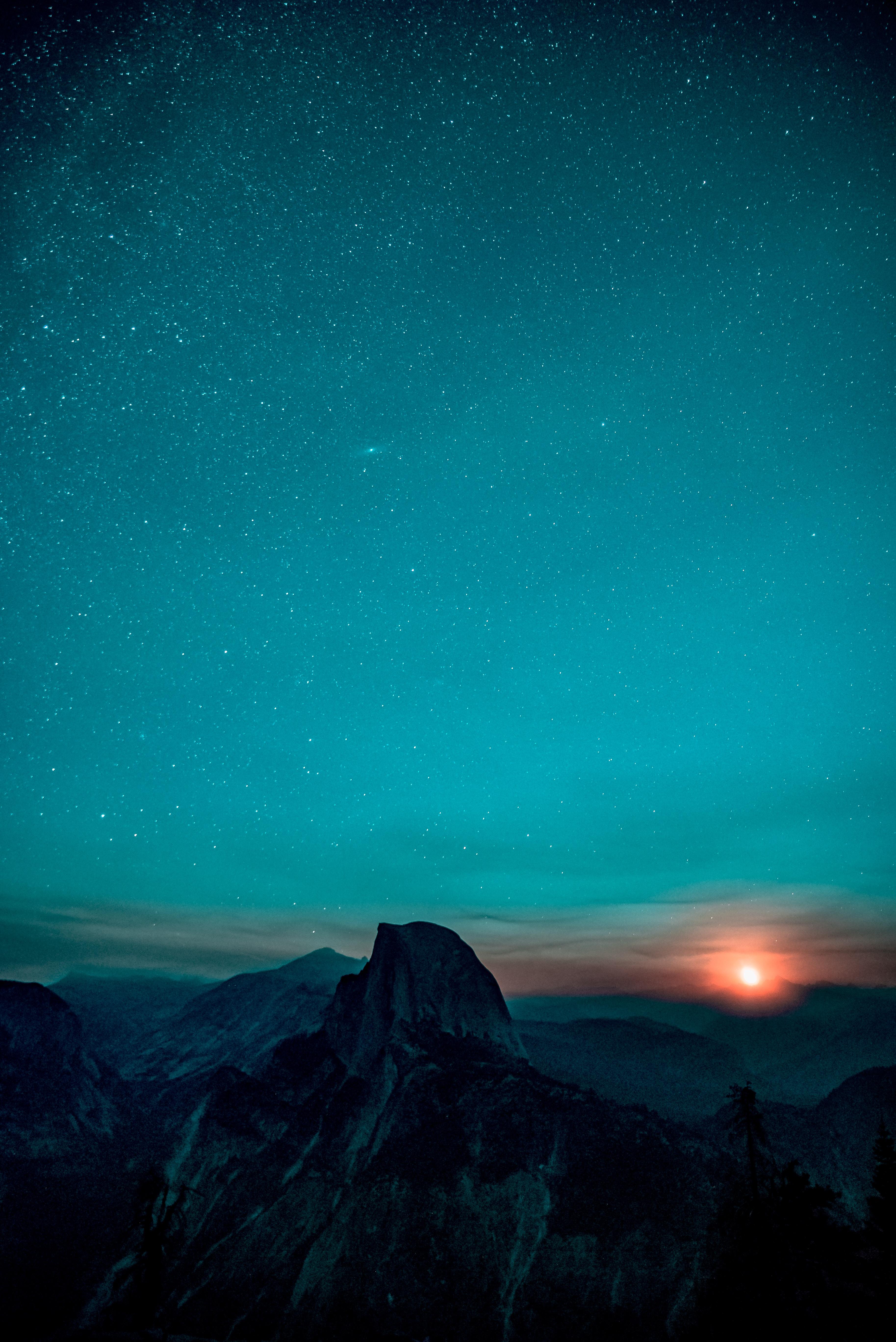 121589 Protetores de tela e papéis de parede Montanhas em seu telefone. Baixe Natureza, Montanhas, Céu Estrelado, Nascer Do Sol, Subir, Vale De Yosemite, Vale Yosemite fotos gratuitamente
