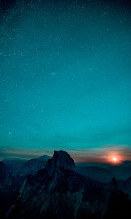 121589 baixar papel de parede Natureza, Céu Estrelado, Nascer Do Sol, Subir, Vale De Yosemite, Vale Yosemite, Montanhas - protetores de tela e imagens gratuitamente