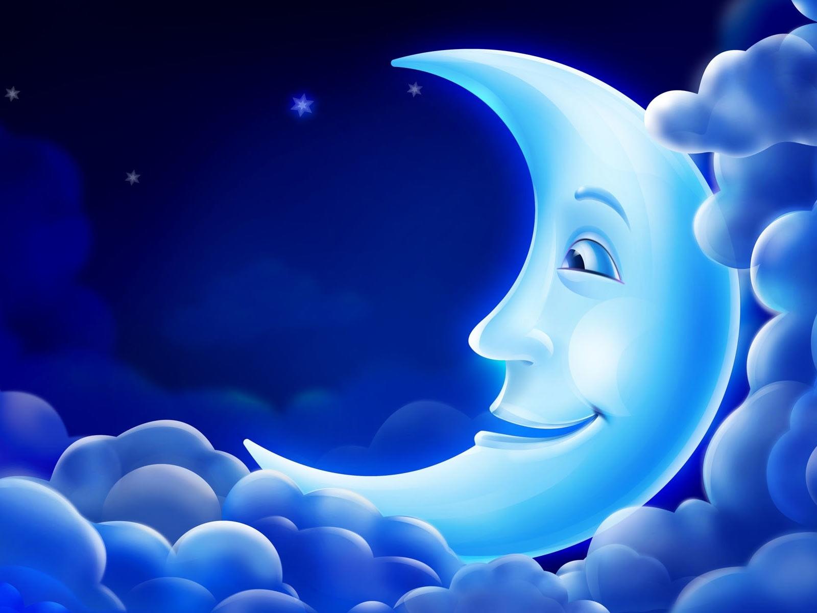 1606 скачать обои Ночь, Луна, Рисунки - заставки и картинки бесплатно