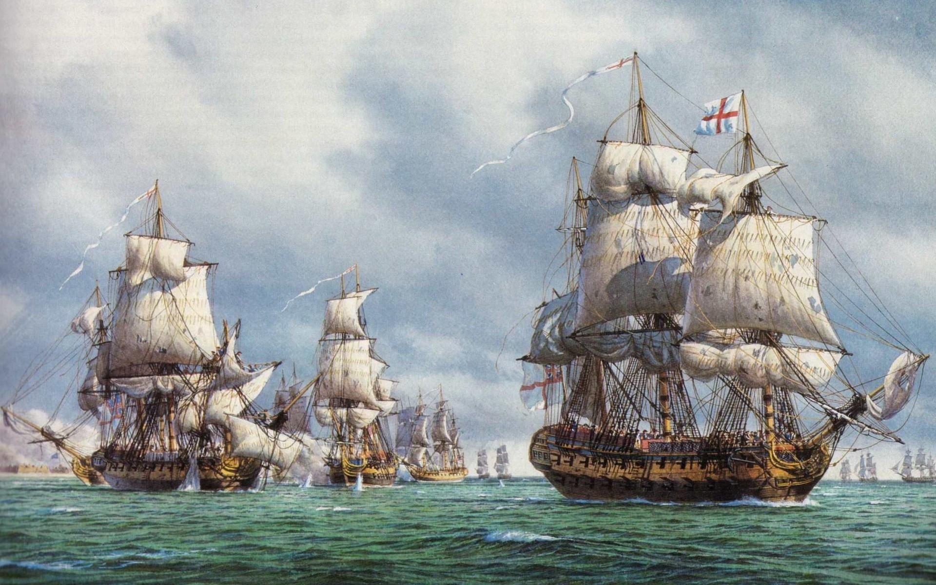 24646 скачать обои Транспорт, Корабли, Море, Рисунки - заставки и картинки бесплатно