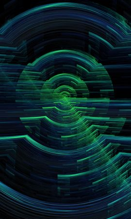 154085 download wallpaper Abstract, Hologram, Circles, Glitch, Interference, Digital screensavers and pictures for free