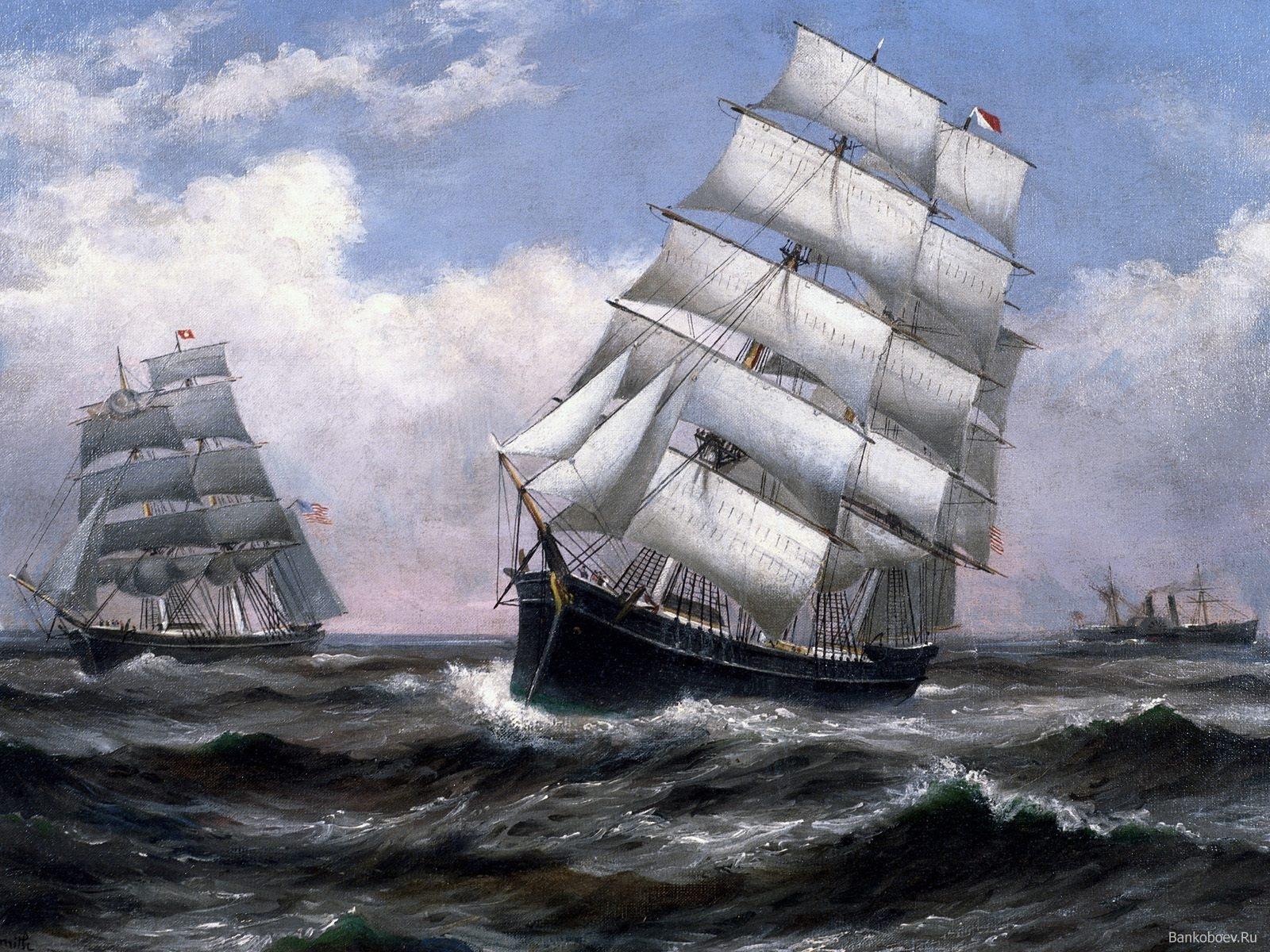 6285 скачать обои Транспорт, Корабли, Море, Картины, Рисунки - заставки и картинки бесплатно