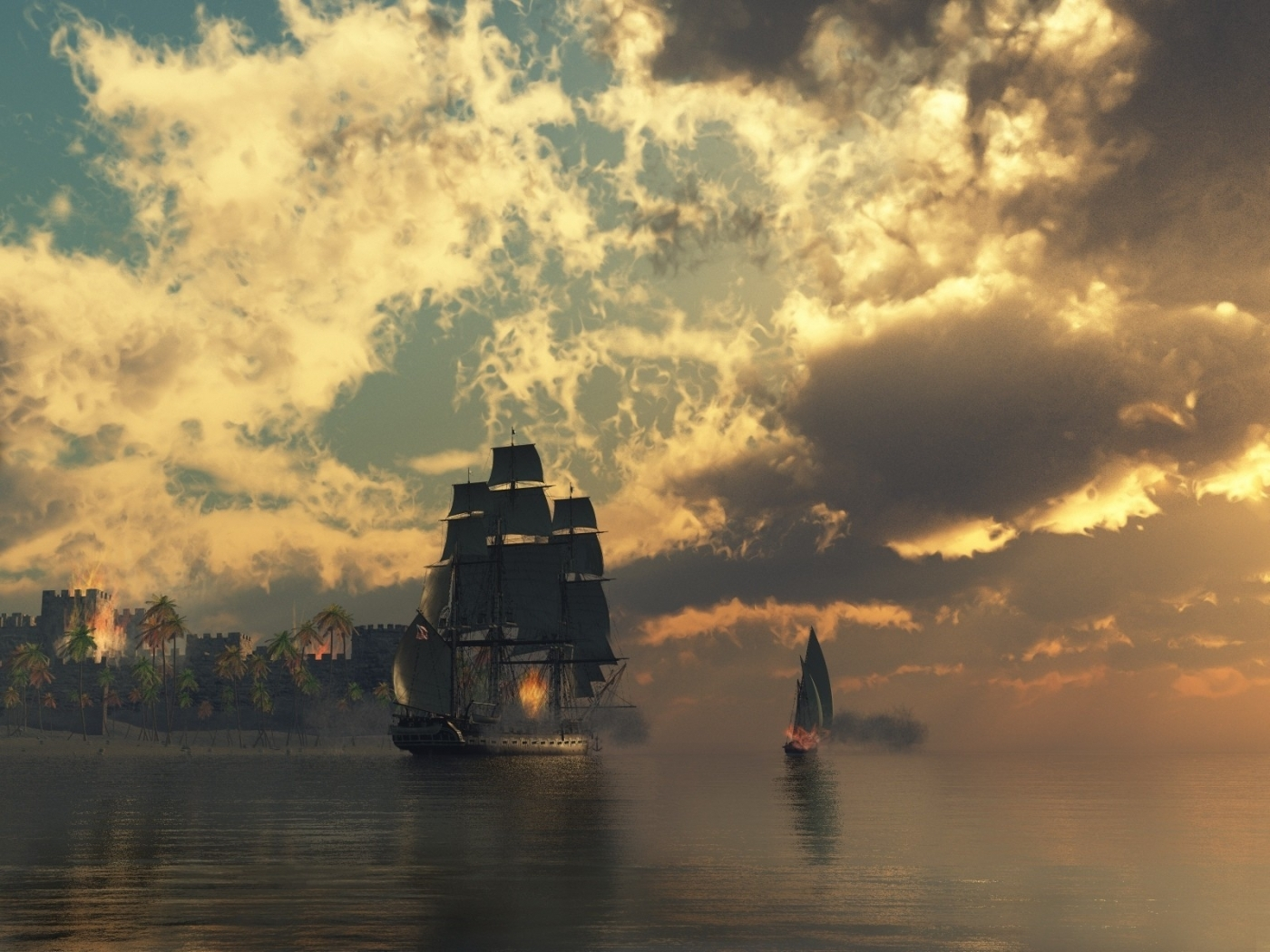 27029 download wallpaper Transport, Landscape, Ships, Sea, Clouds, Pictures screensavers and pictures for free